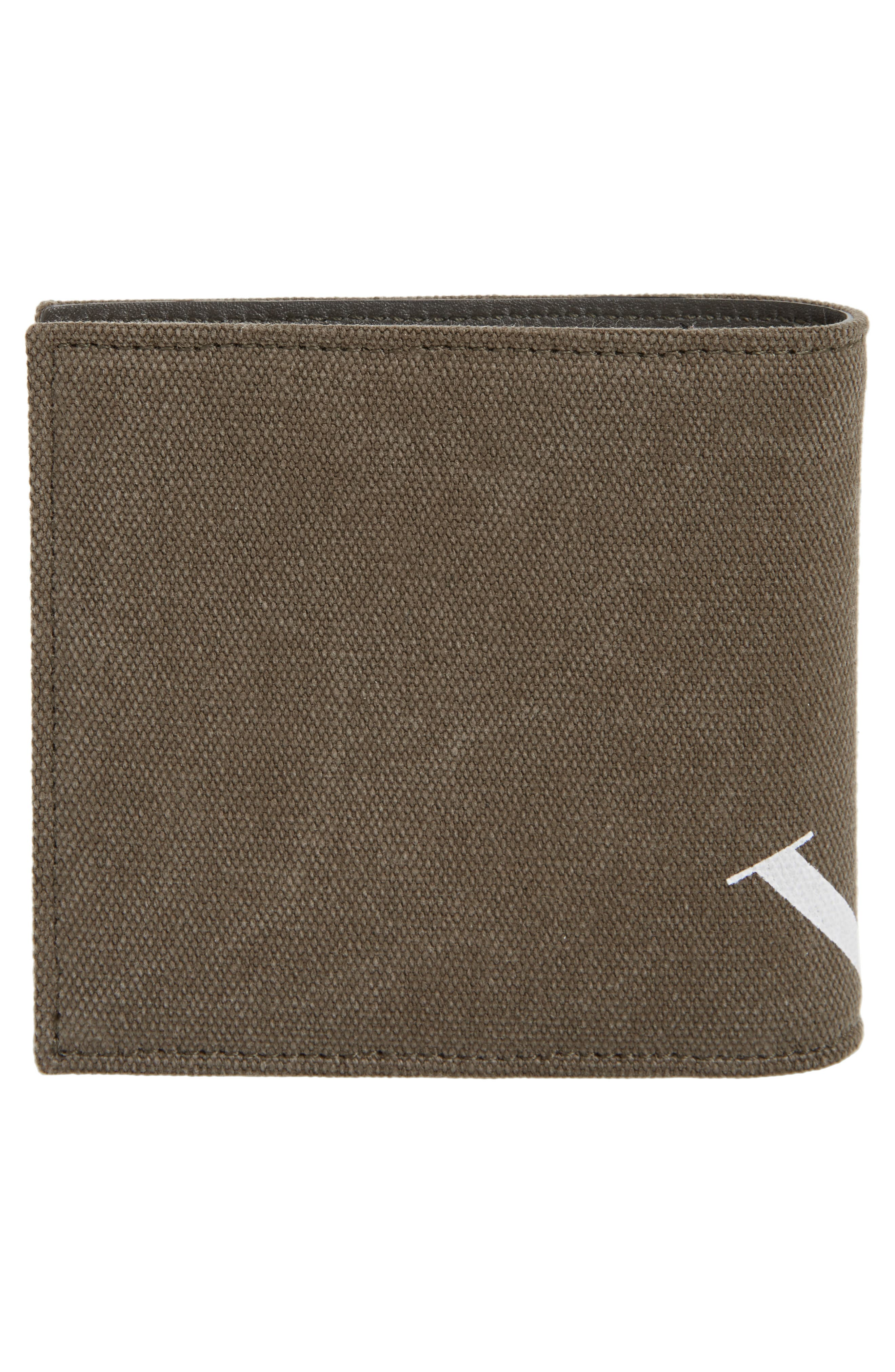 GARAVANI Military Canvas Wallet,                             Alternate thumbnail 3, color,                             L90 Olive