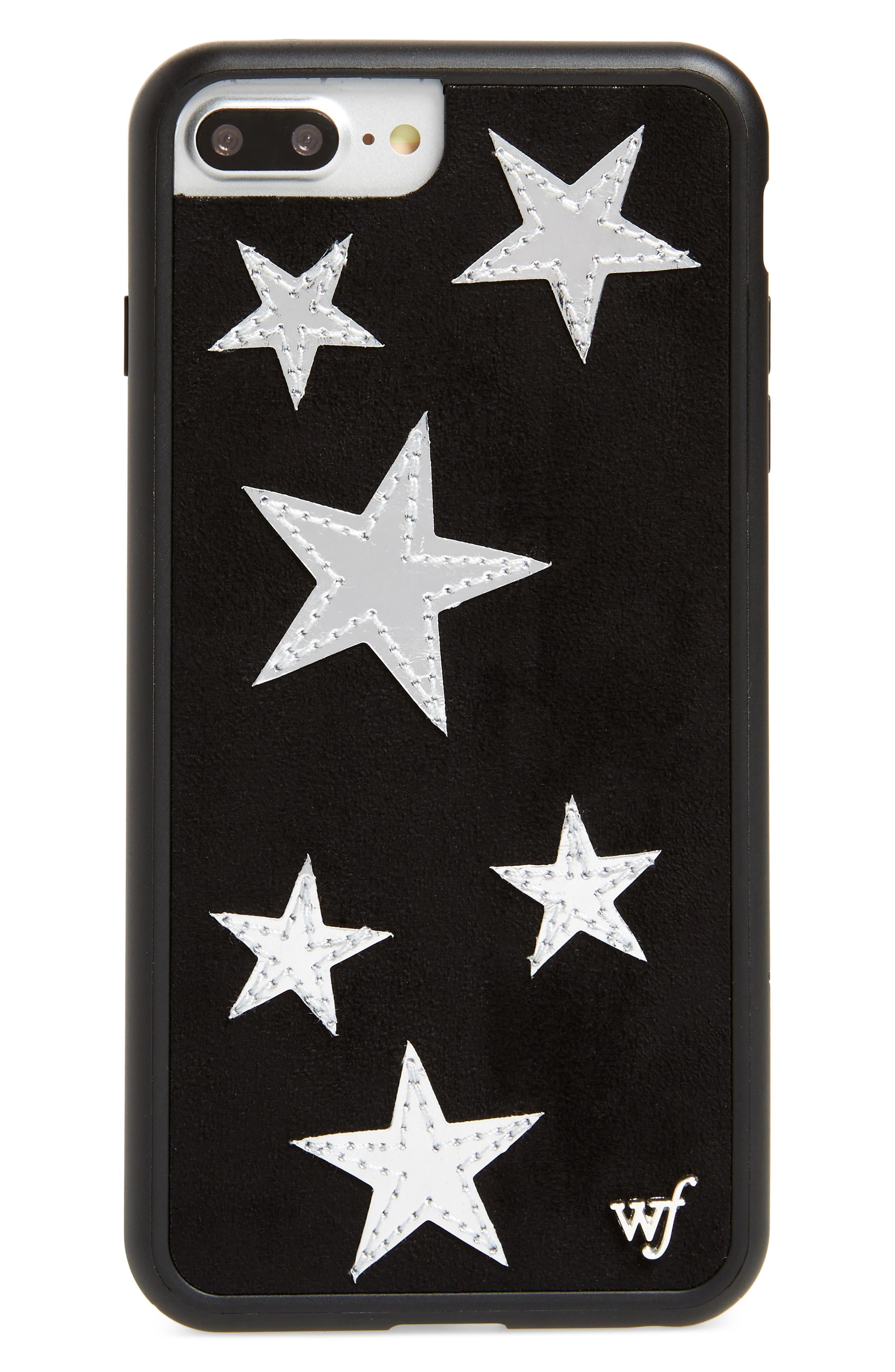 Velvet Stars iPhone 6/7/8 Plus Phone Case,                             Main thumbnail 1, color,                             Black Multi