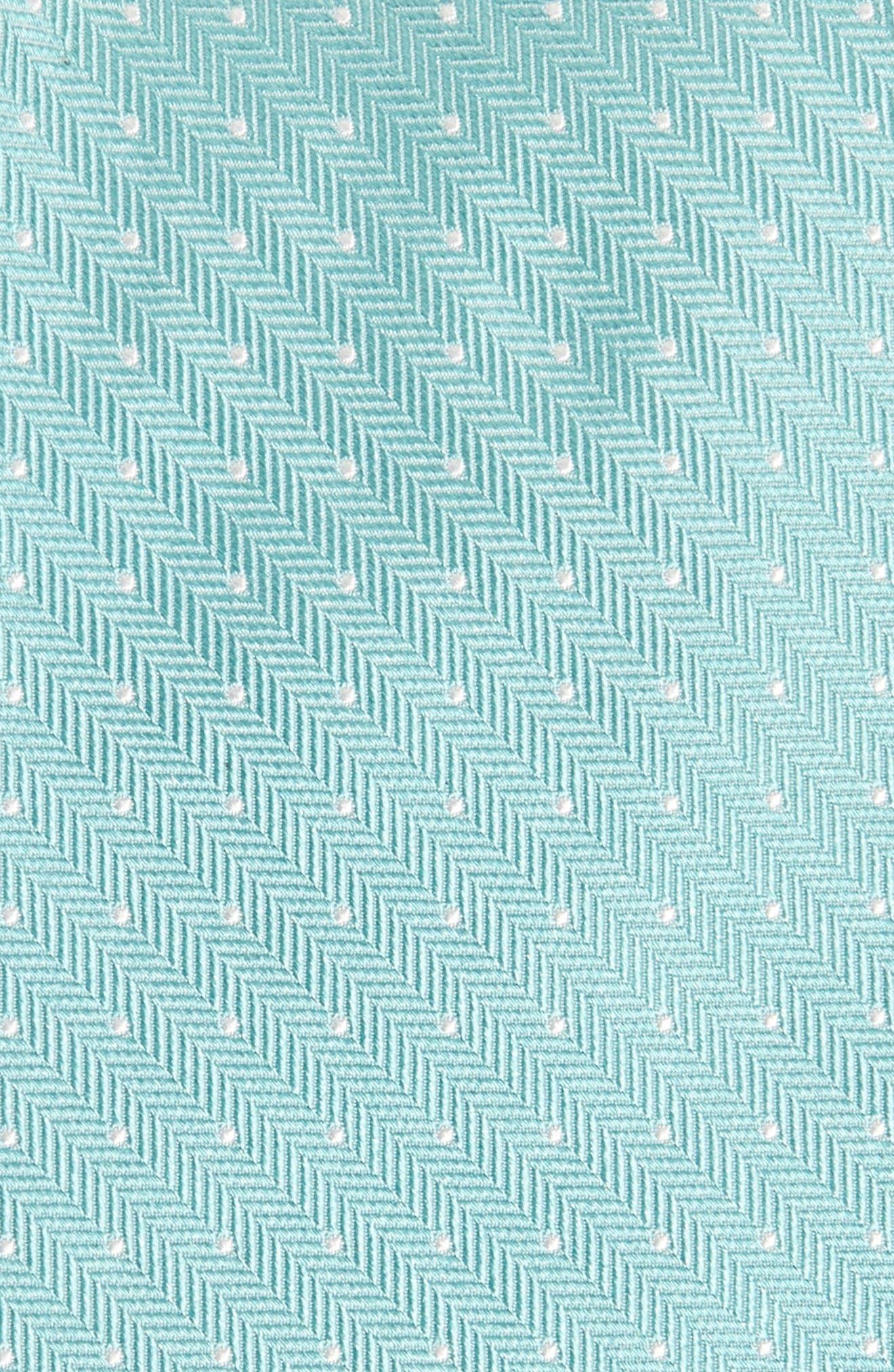 Herringbone Dot Silk Tie,                             Alternate thumbnail 2, color,                             Herringbone Dot Bermuda
