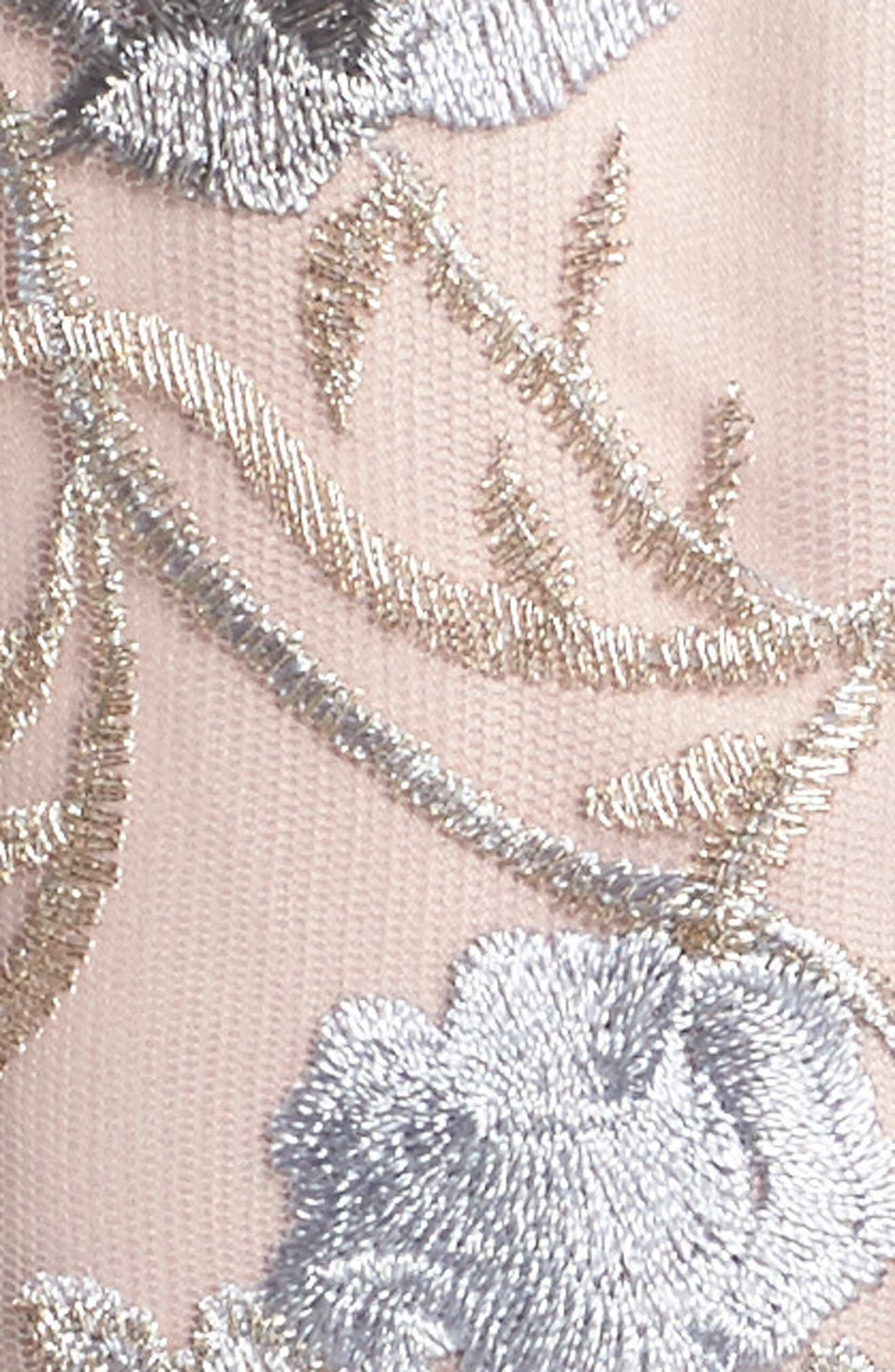 Embroidered Ballgown,                             Alternate thumbnail 5, color,                             Blush