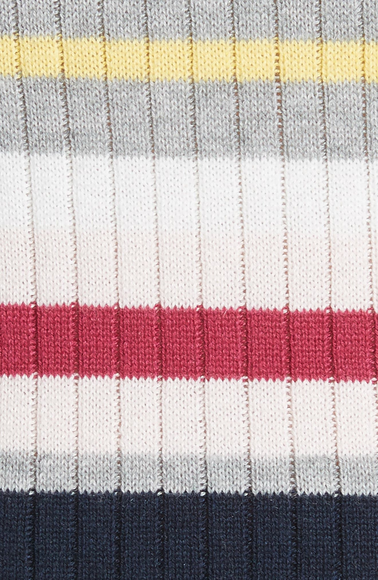 Colour by Numbers Stripe Sweater Dress,                             Alternate thumbnail 5, color,                             Grey