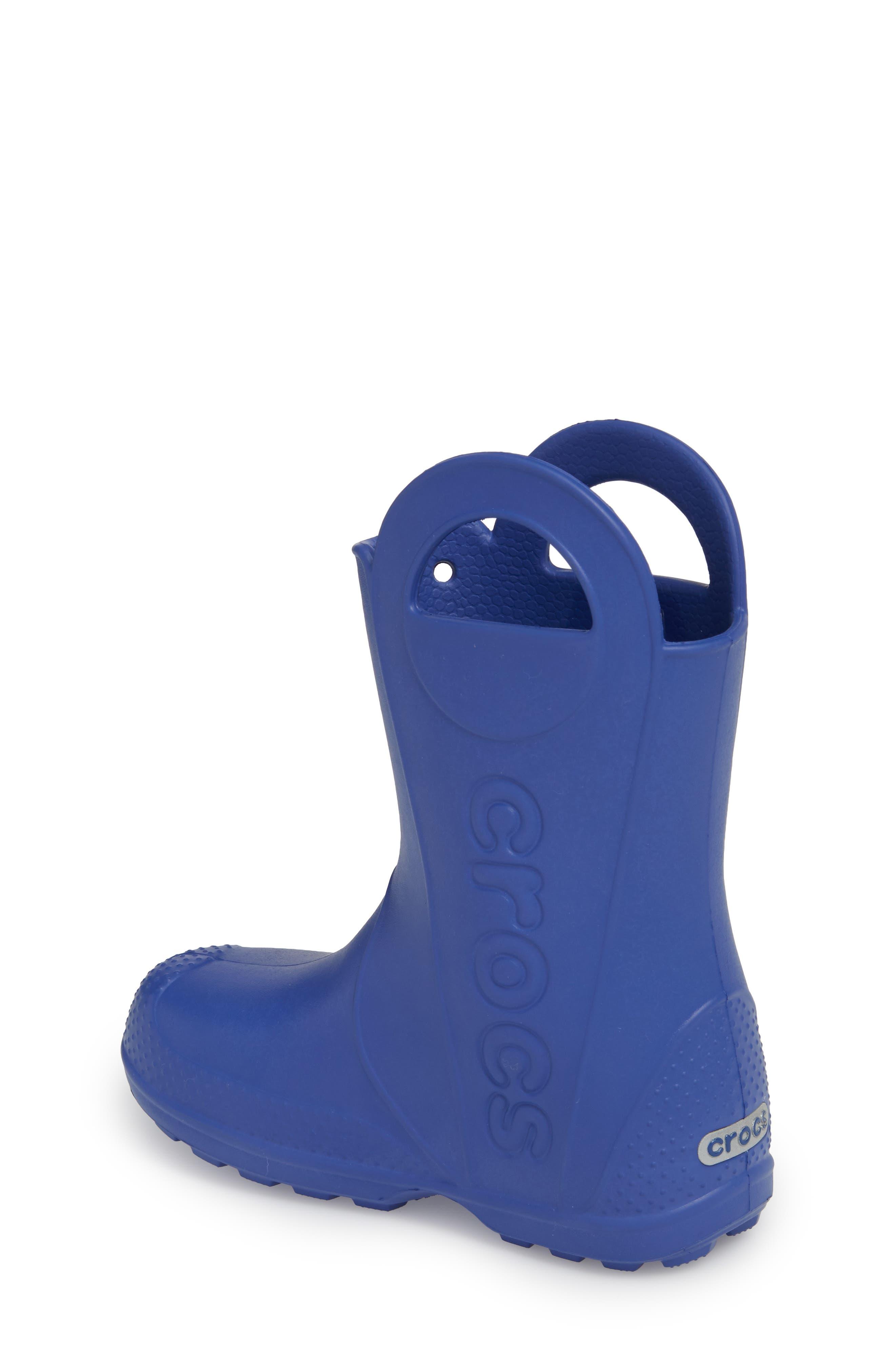 'Handle It' Rain Boot,                             Alternate thumbnail 2, color,                             Cerulean Blue