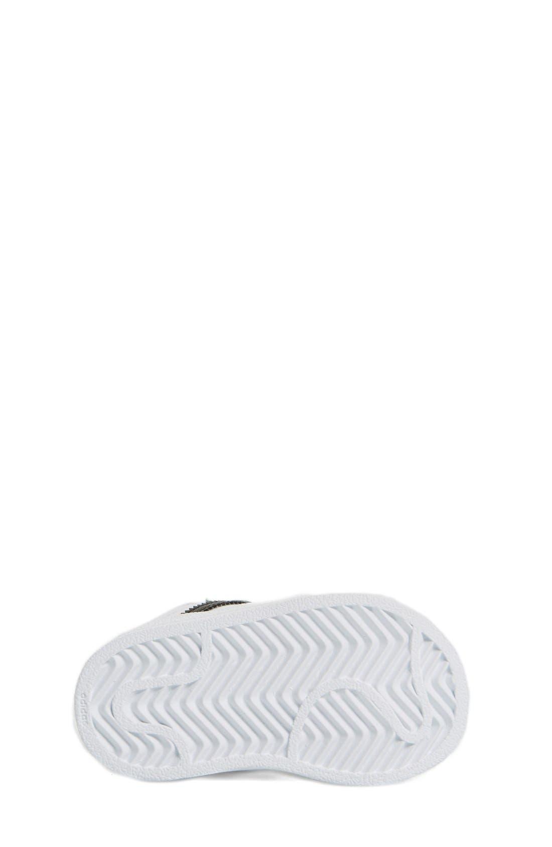 'Superstar' Sneaker,                             Alternate thumbnail 4, color,                             White/ Black