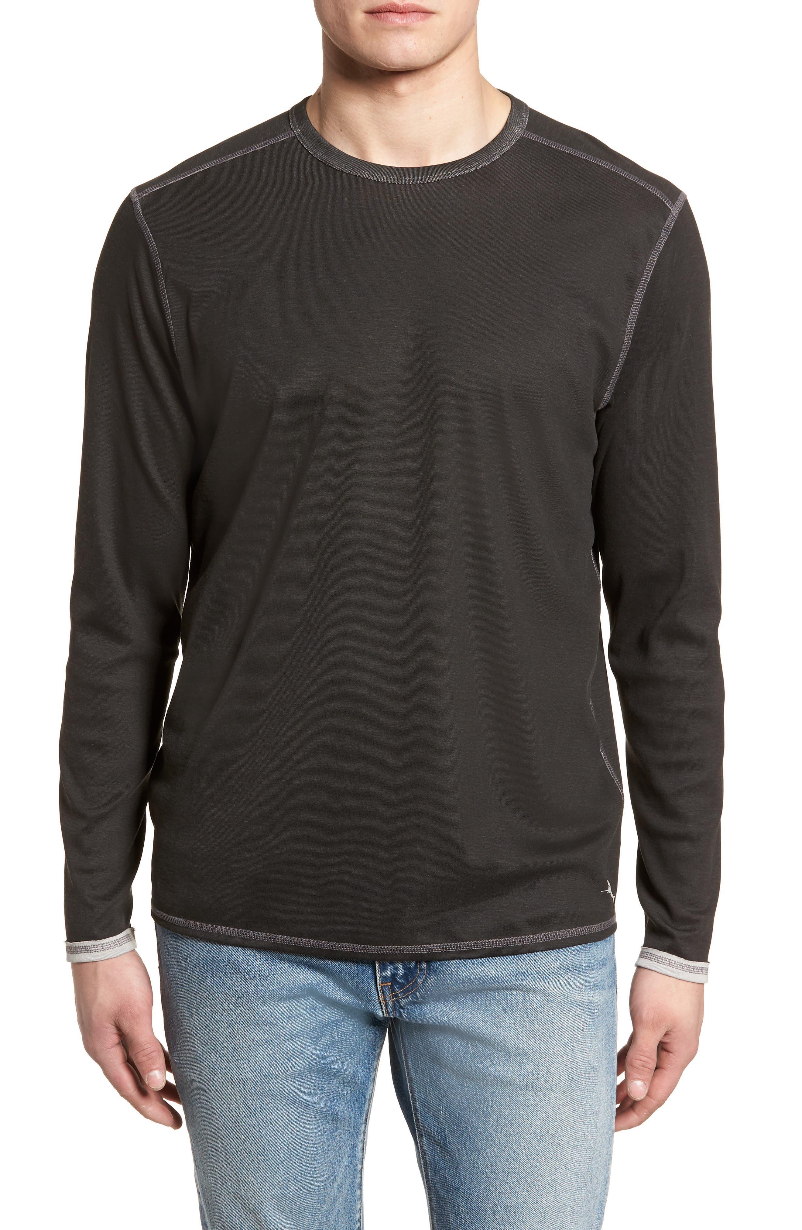 Dual in the Sun Reversible T-Shirt,                             Main thumbnail 1, color,                             Black