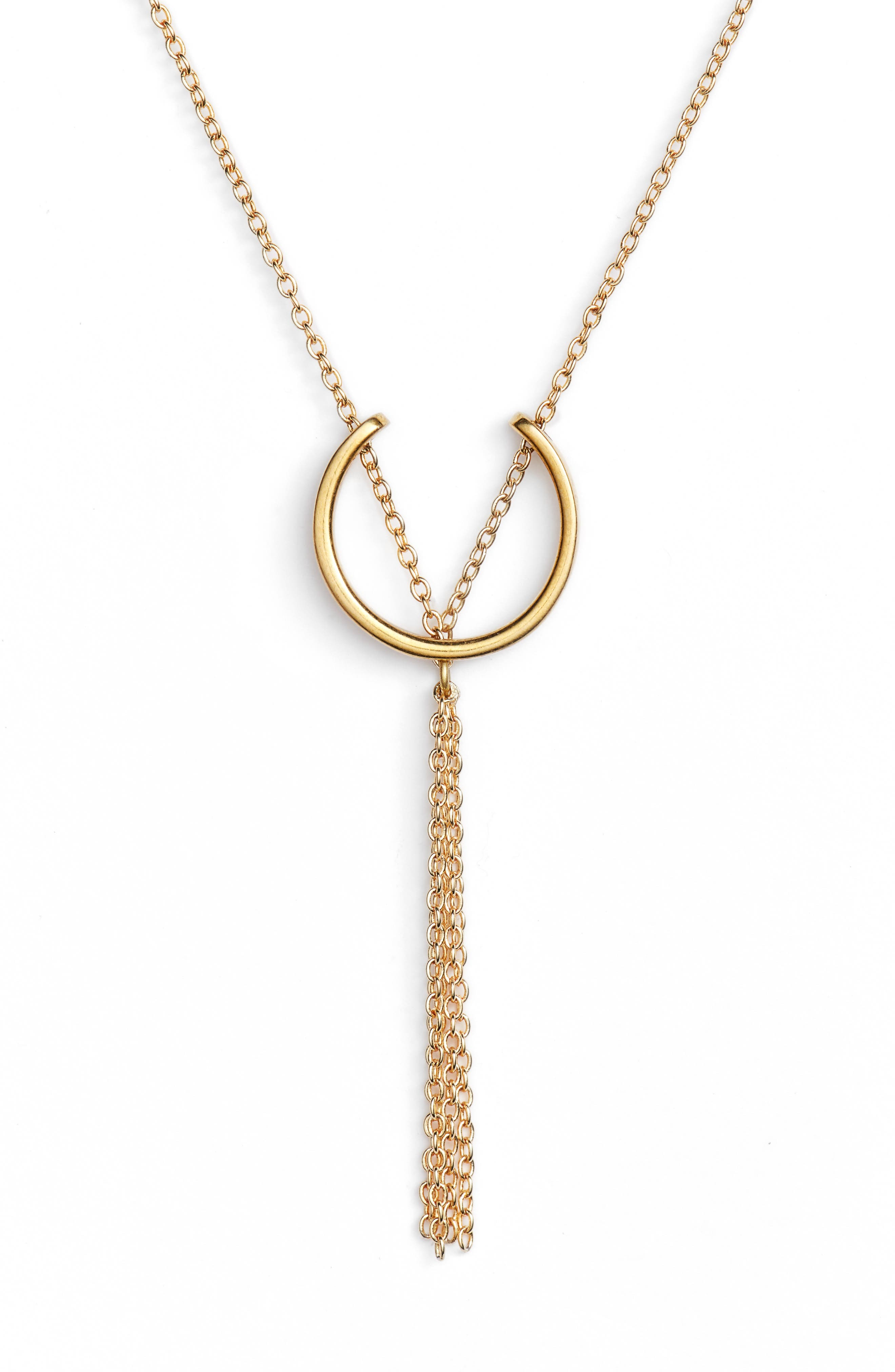 Mini Hewa Necklace,                         Main,                         color, Brass