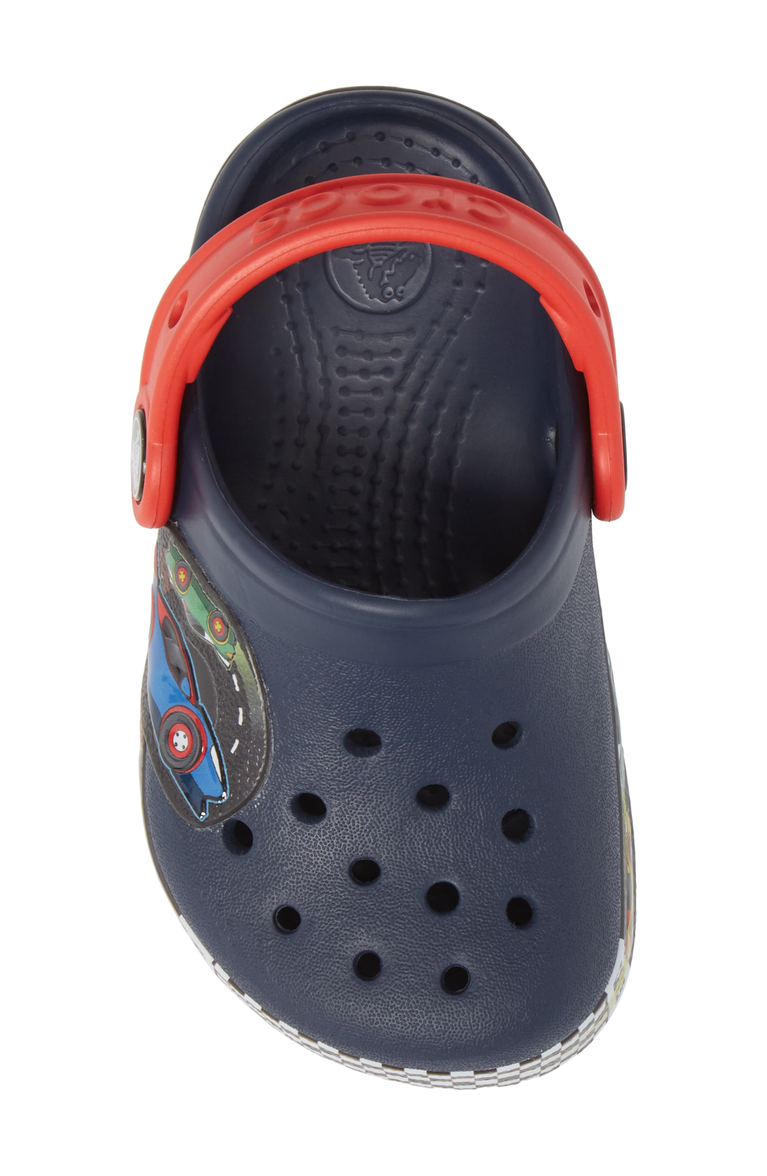 Crocband Fun Lab Light-Up Slip-On,                             Alternate thumbnail 5, color,                             Navy