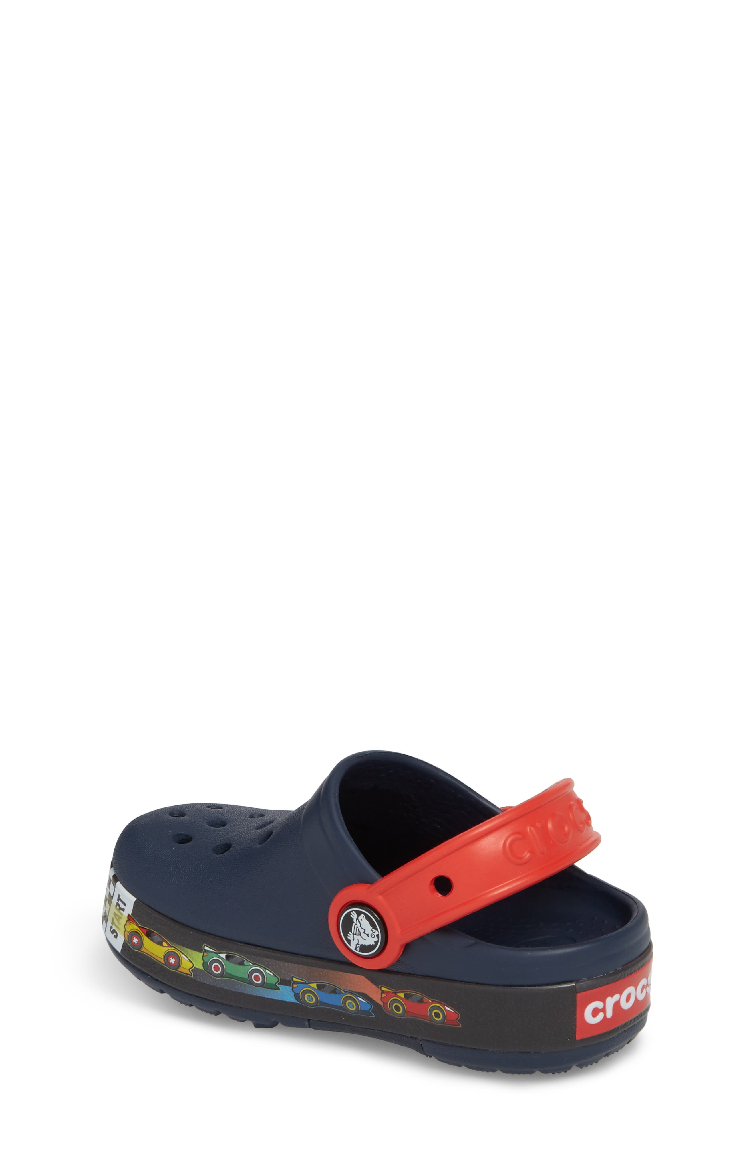 Crocband Fun Lab Light-Up Slip-On,                             Alternate thumbnail 2, color,                             Navy