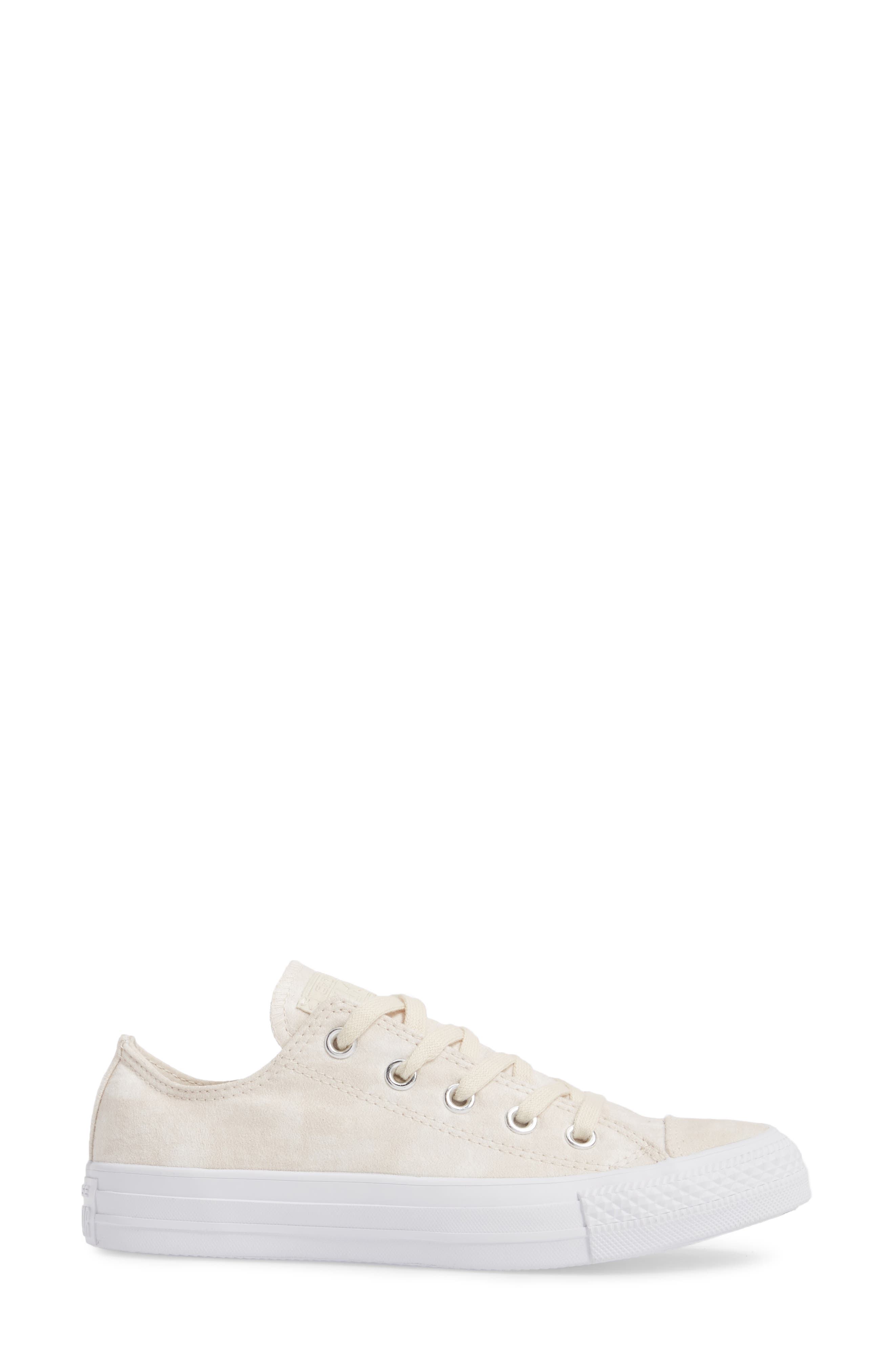 Chuck Taylor<sup>®</sup> All Star<sup>®</sup> Peached Low Top Sneaker,                             Alternate thumbnail 3, color,                             Driftwood