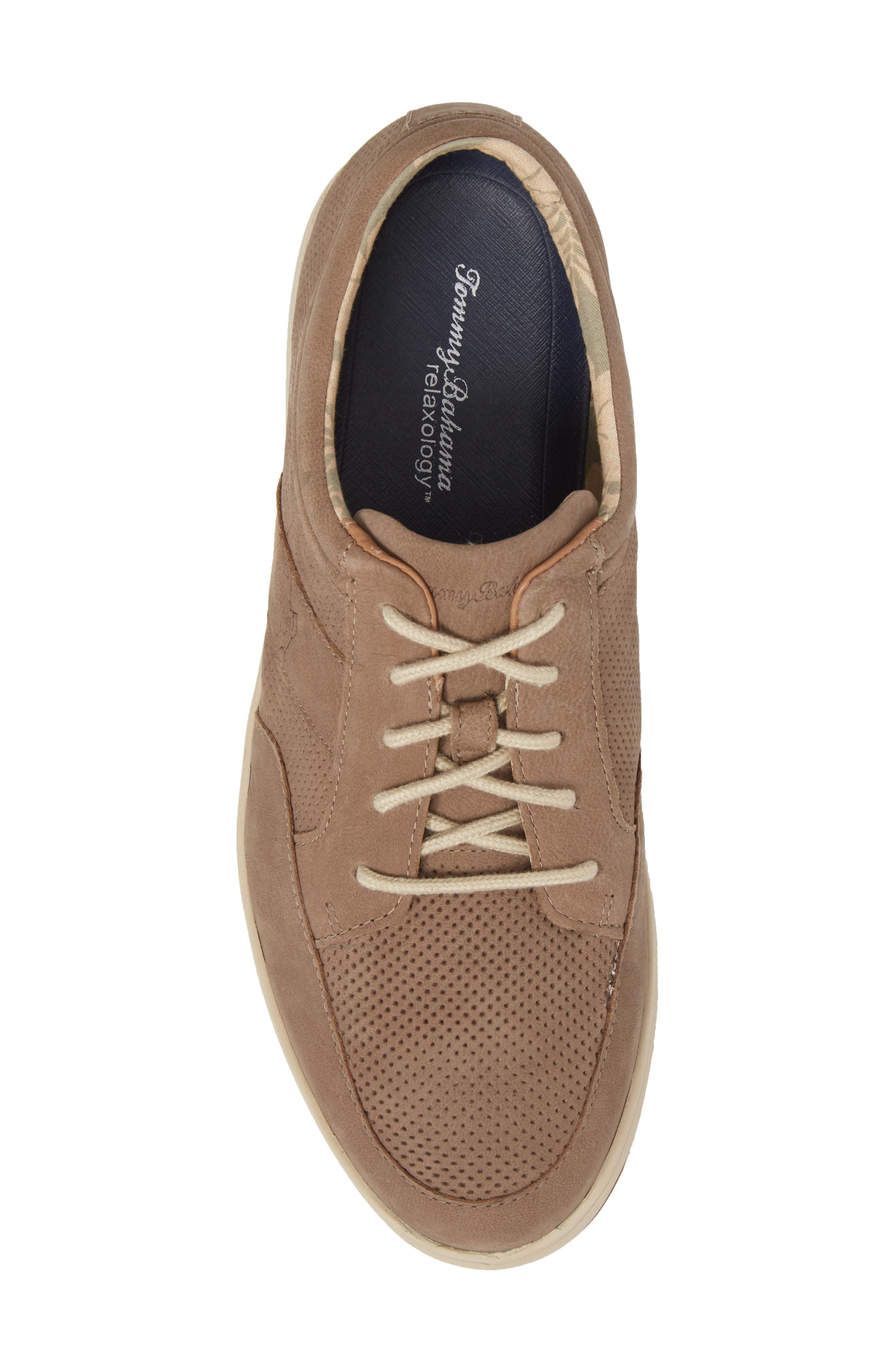 Caicos Authentic Low Top Sneaker,                             Alternate thumbnail 5, color,                             Taupe Leather