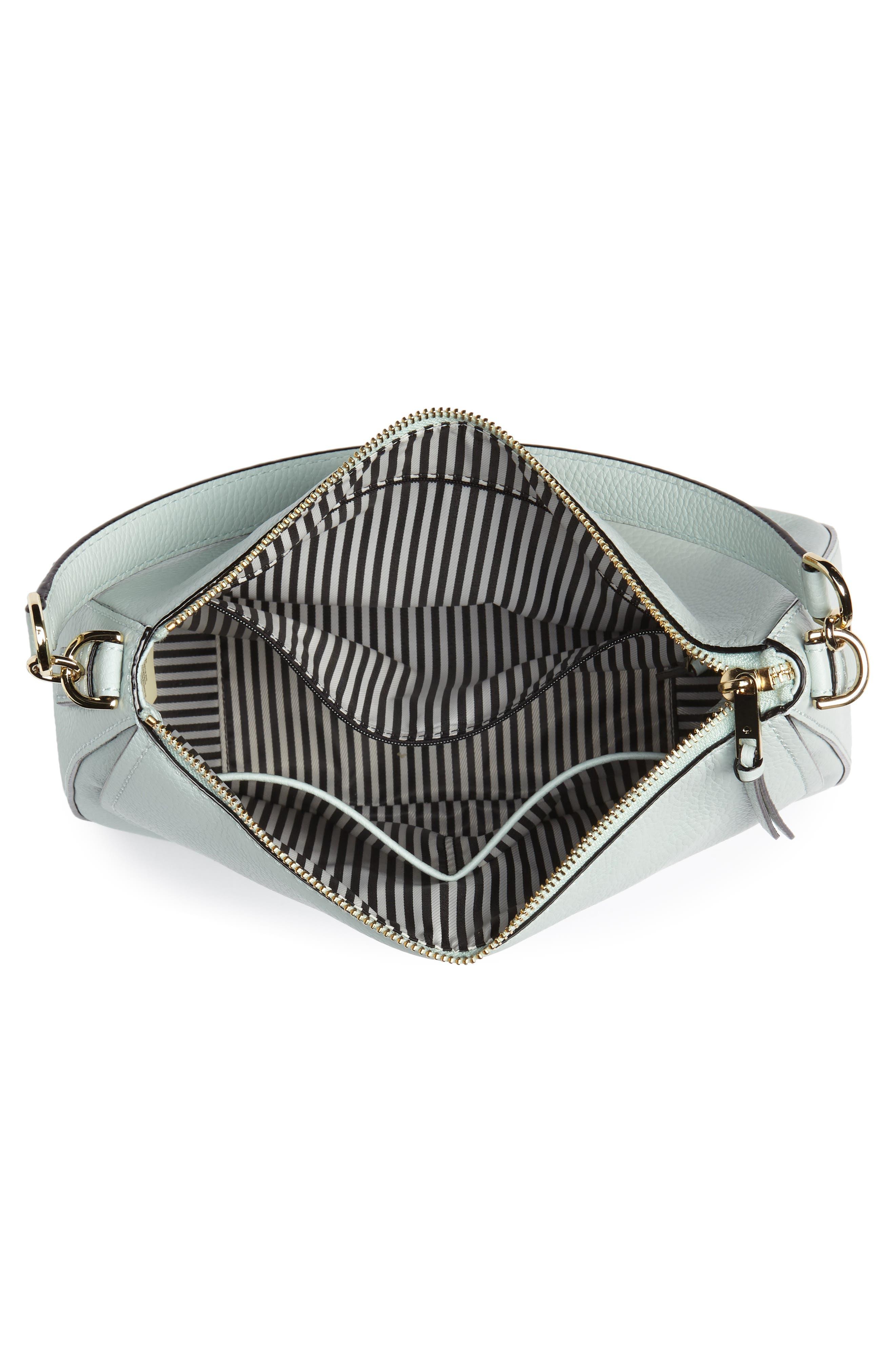 jackson street - colette leather satchel,                             Alternate thumbnail 3, color,                             Misty Mint
