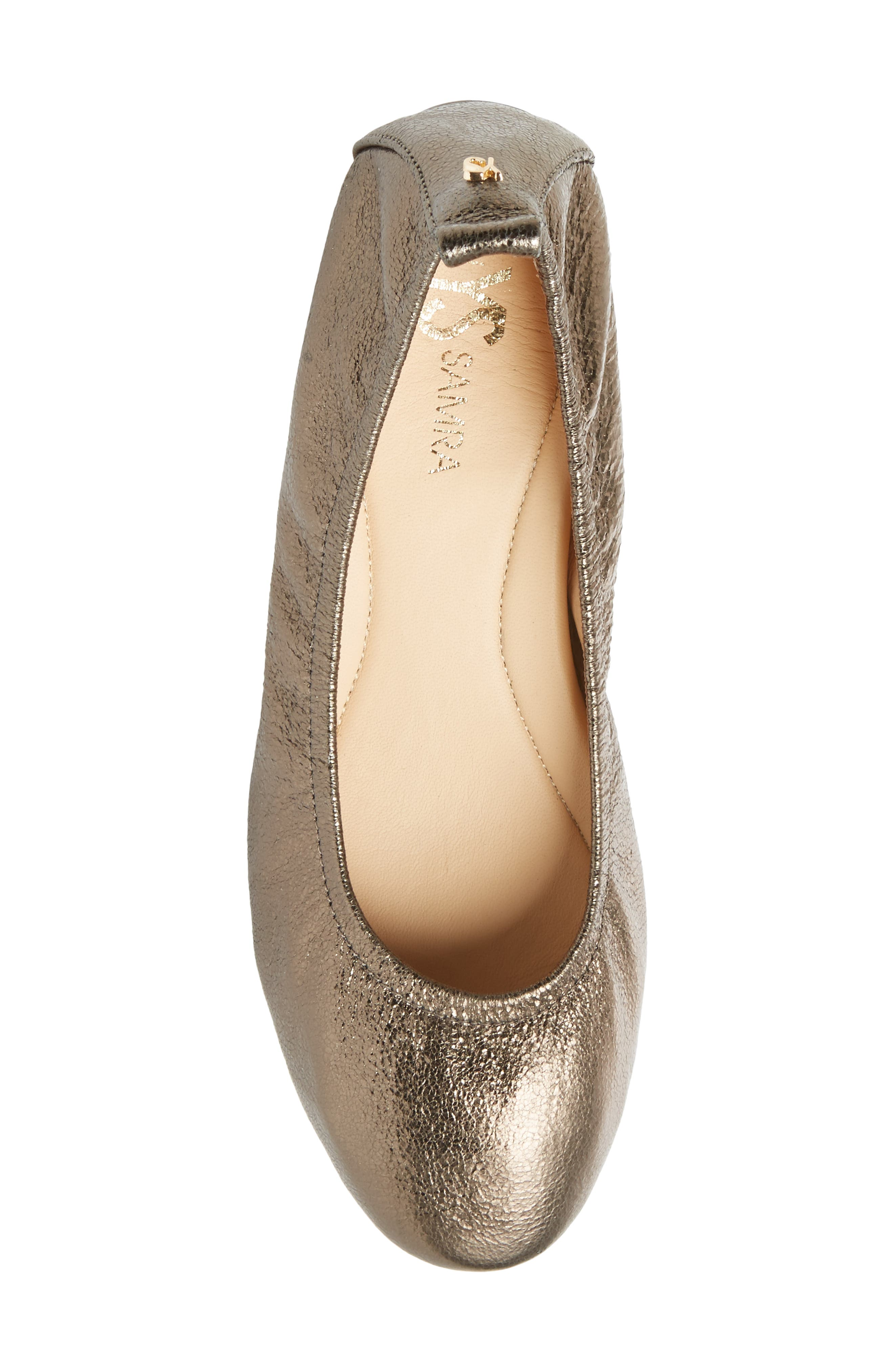 Nadia Pump,                             Alternate thumbnail 5, color,                             Gold Leather