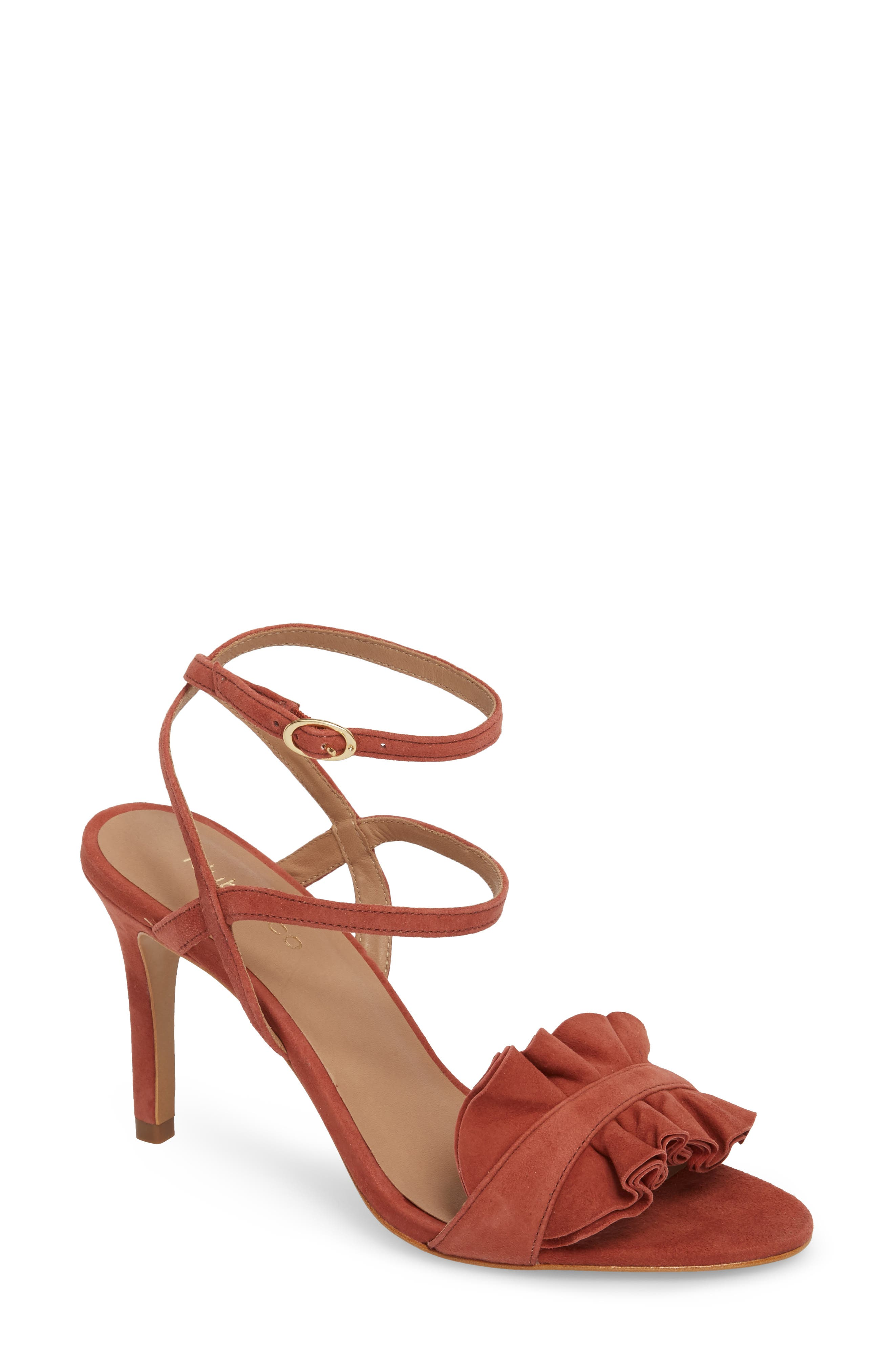 Ansley Sandal,                             Main thumbnail 1, color,                             Spice Suede