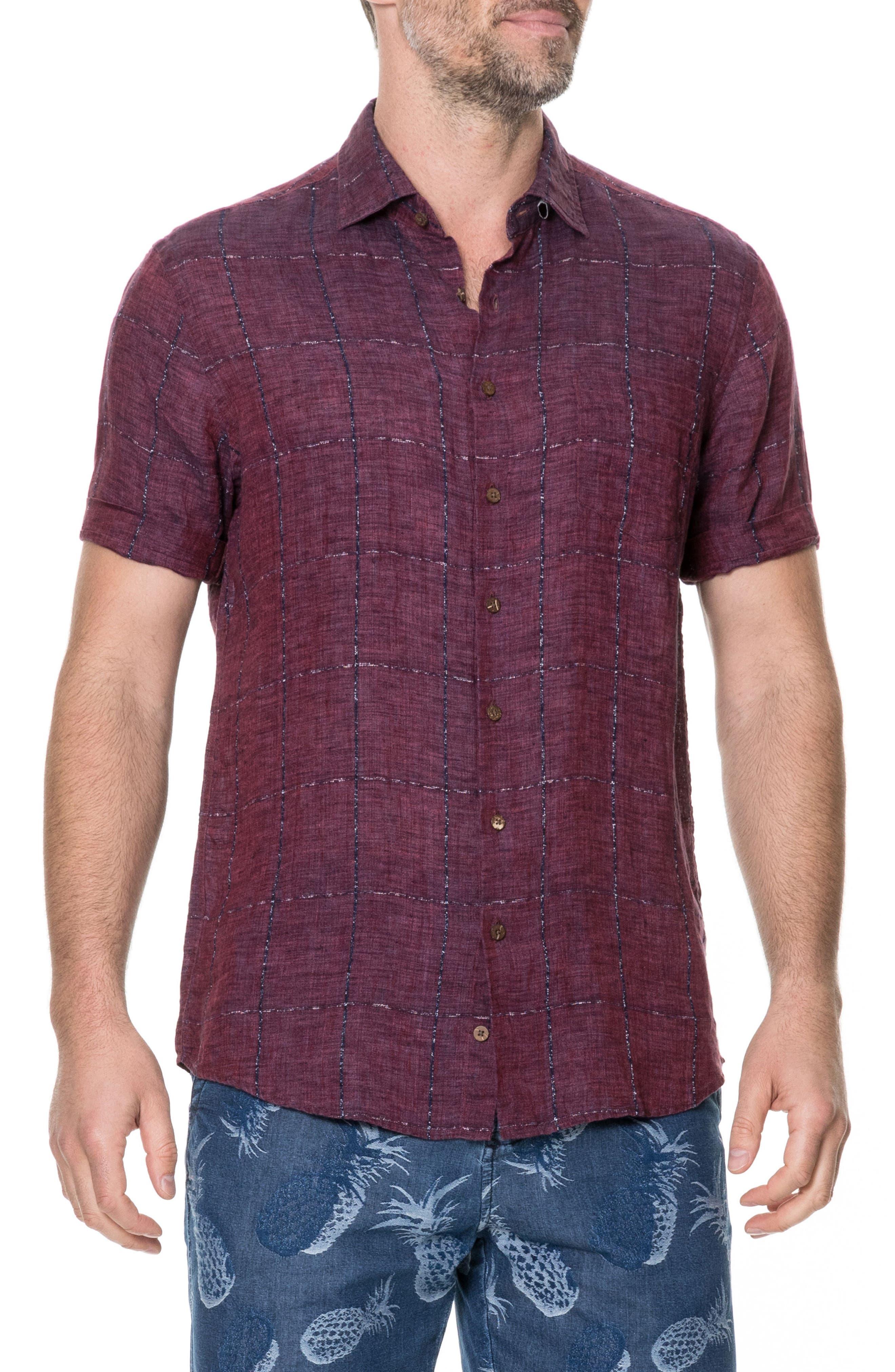 Saddleback Regular Fit Sport Shirt,                         Main,                         color, Port