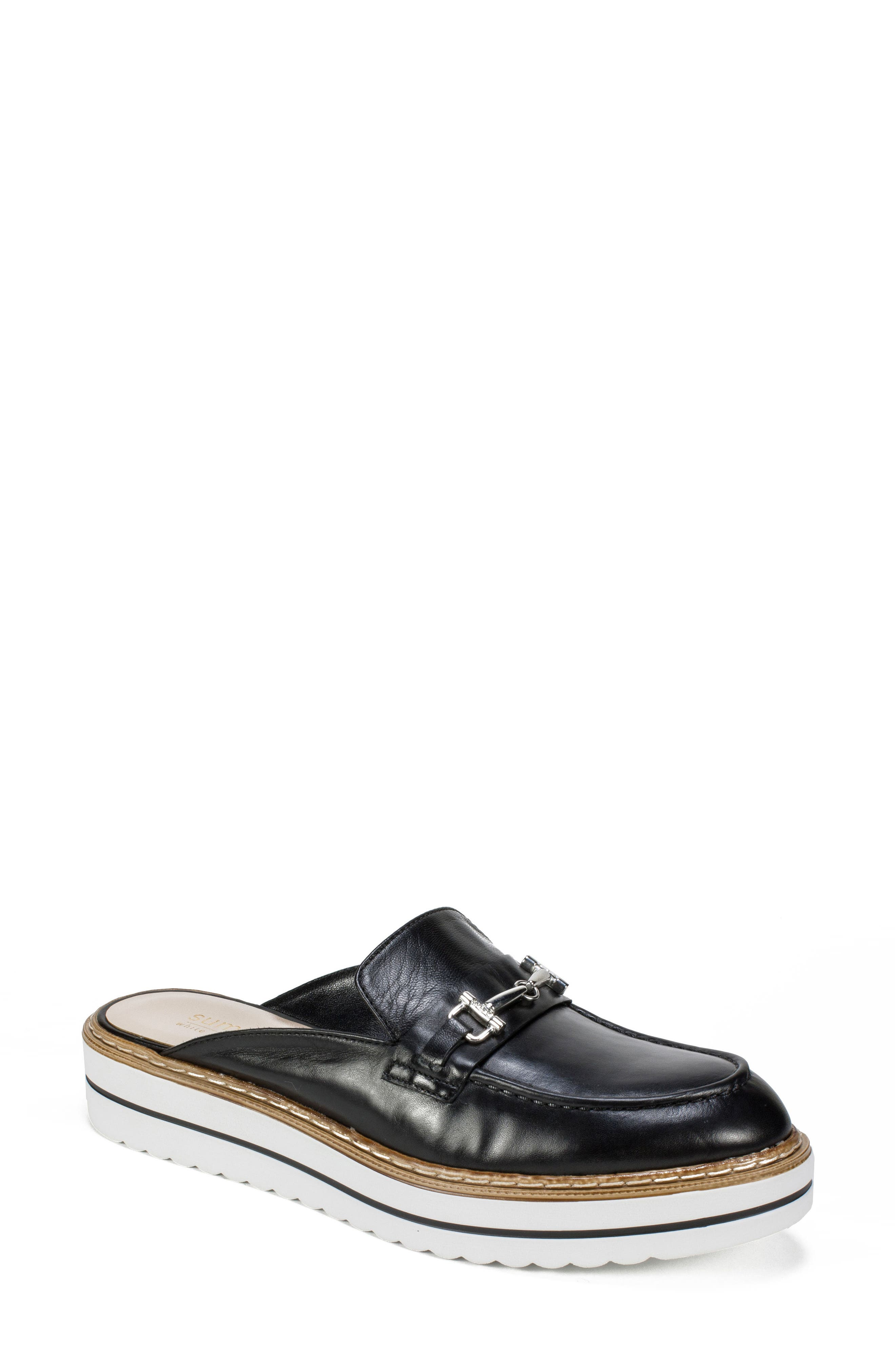 by White Mountain Baline Mule,                         Main,                         color, Black Leather