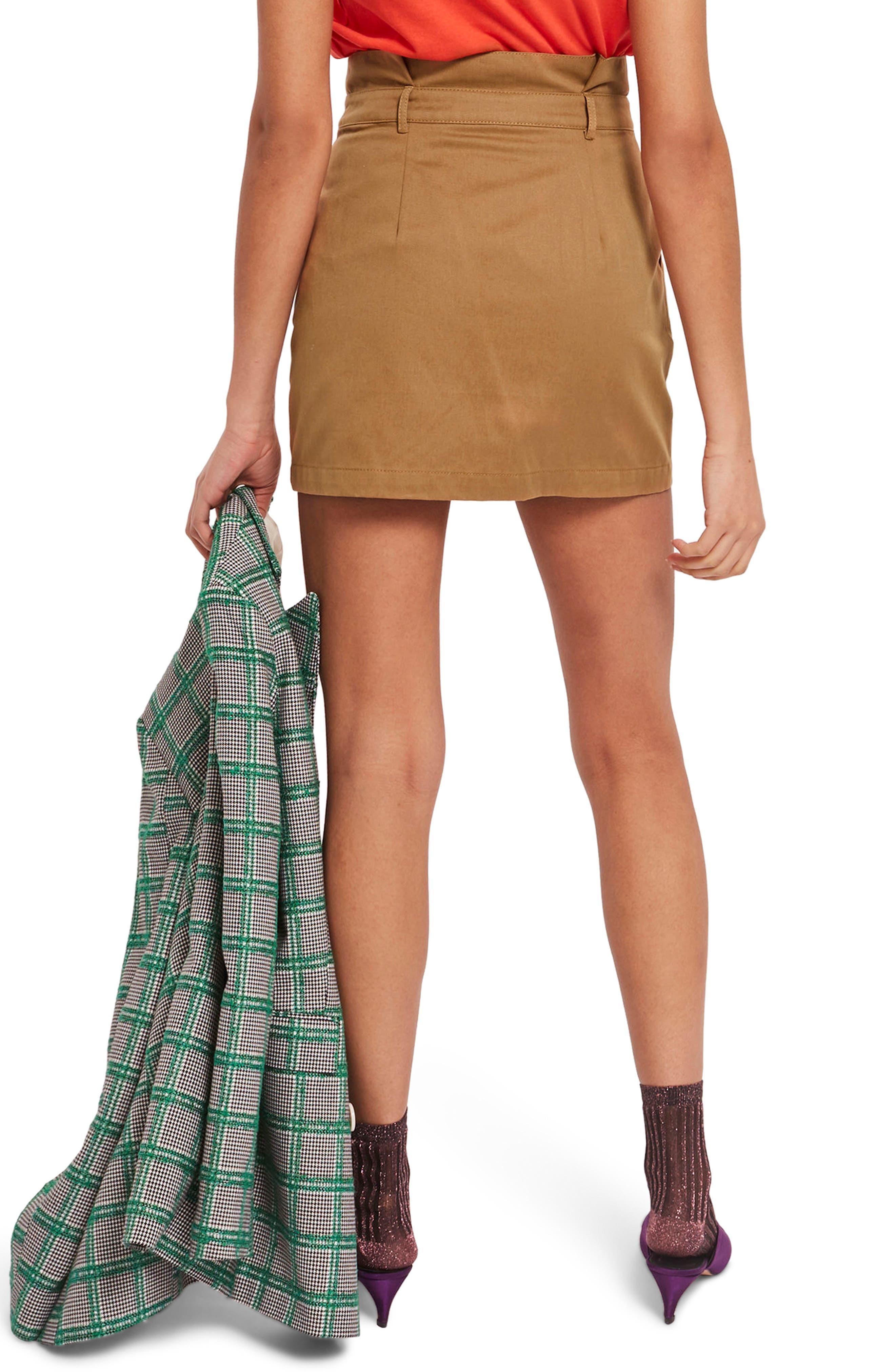 Utility Button Miniskirt,                             Alternate thumbnail 3, color,                             Camel