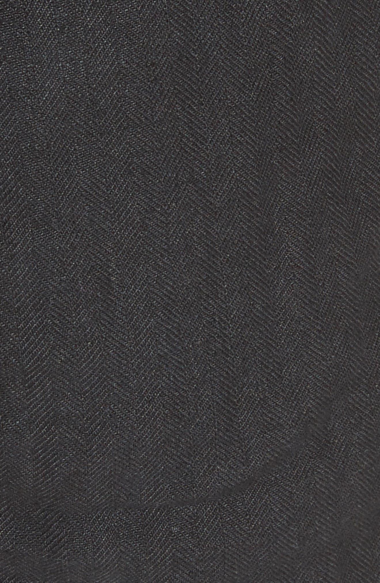 Beacon Utility Linen Shorts,                             Alternate thumbnail 5, color,                             Black