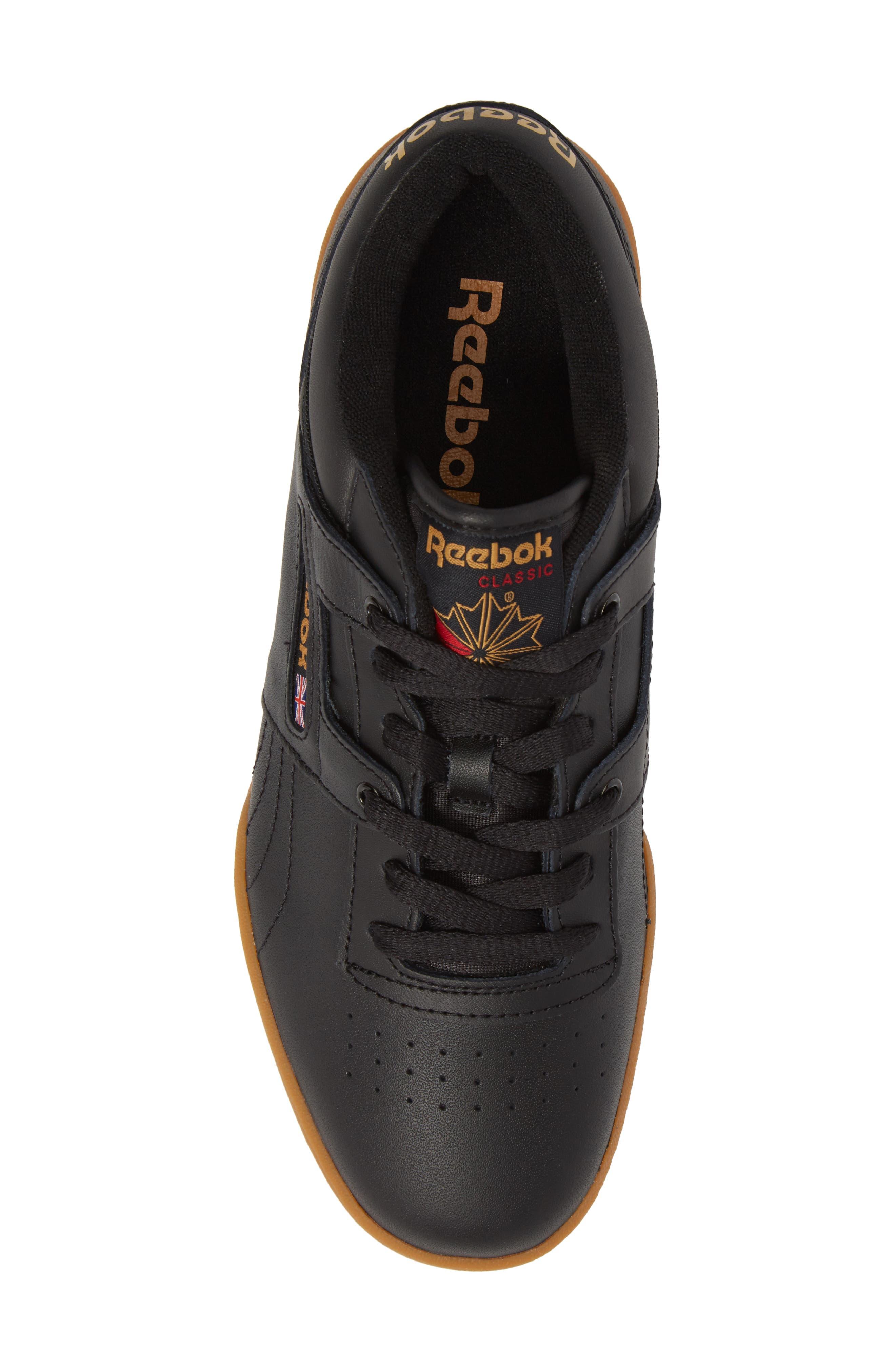 Workout Low Top Sneaker,                             Alternate thumbnail 5, color,                             Black