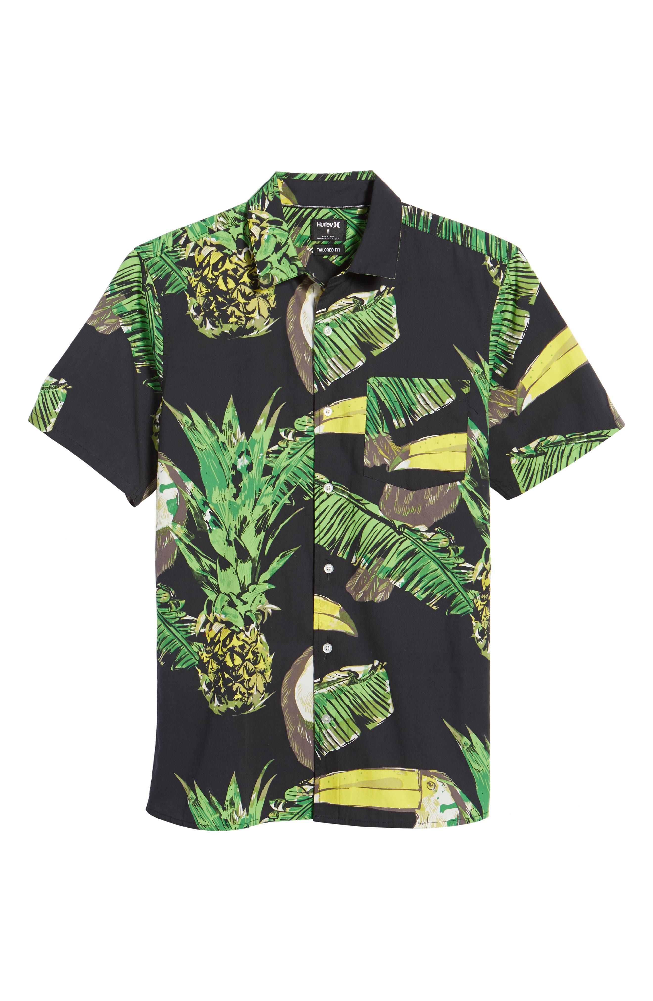 Toucan Shirt,                             Alternate thumbnail 6, color,                             Black