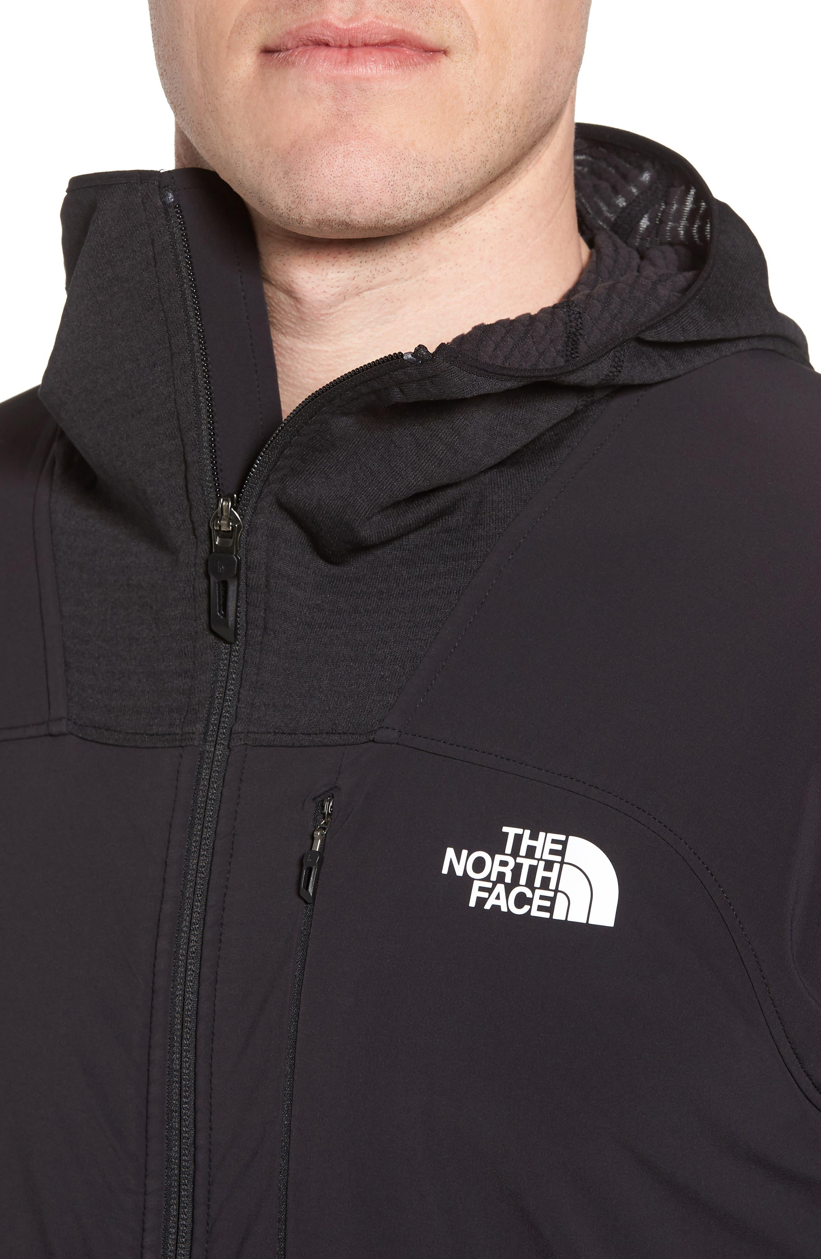 Progressor Power Grid<sup>™</sup> Hooded Fleece Jacket,                             Alternate thumbnail 4, color,                             Black/ Black