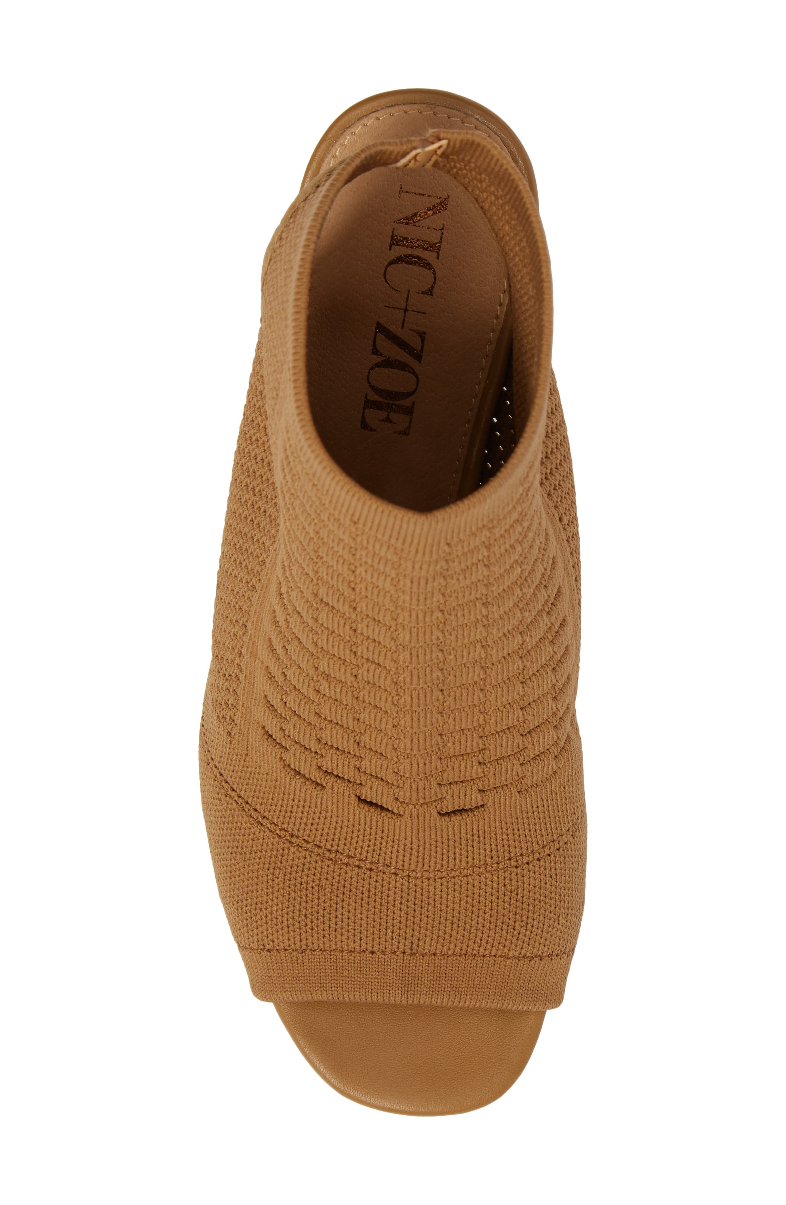 Priya Knit Bootie,                             Alternate thumbnail 5, color,                             Fawn Knit