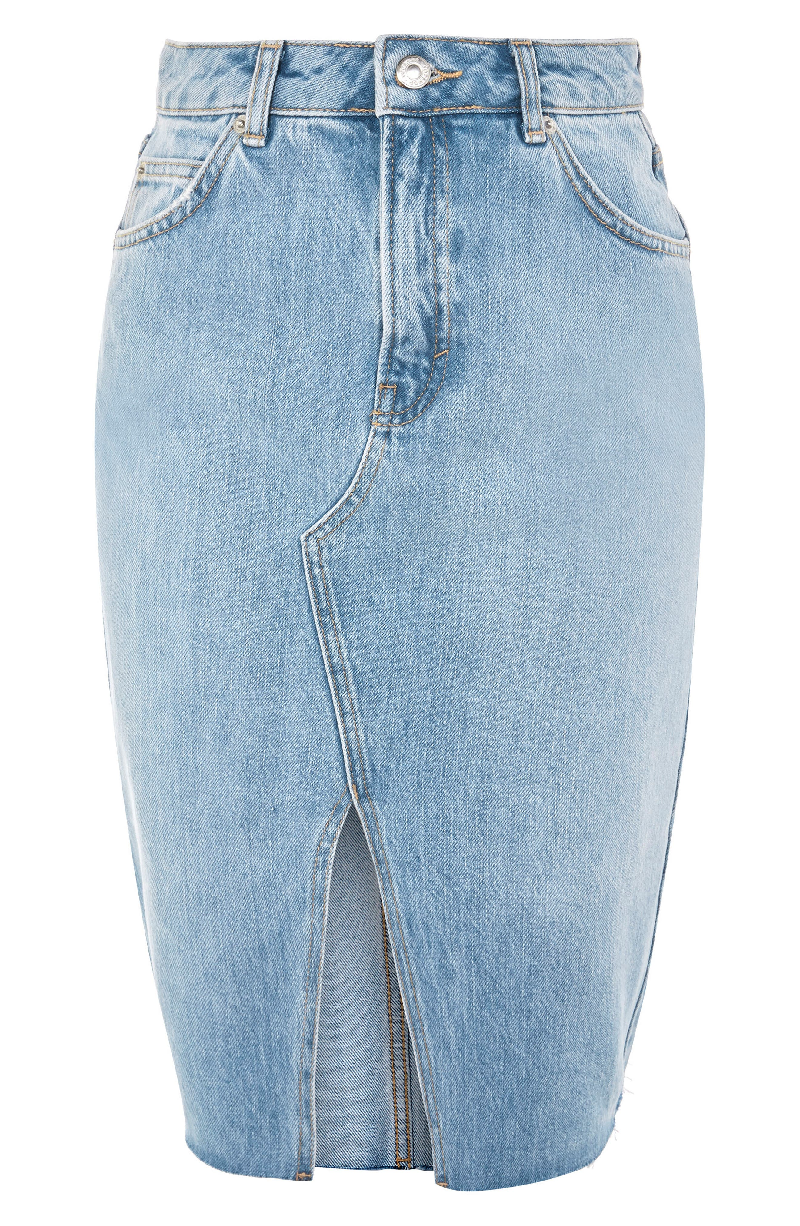 Alternate Image 1 Selected - Topshop Denim Midi Skirt
