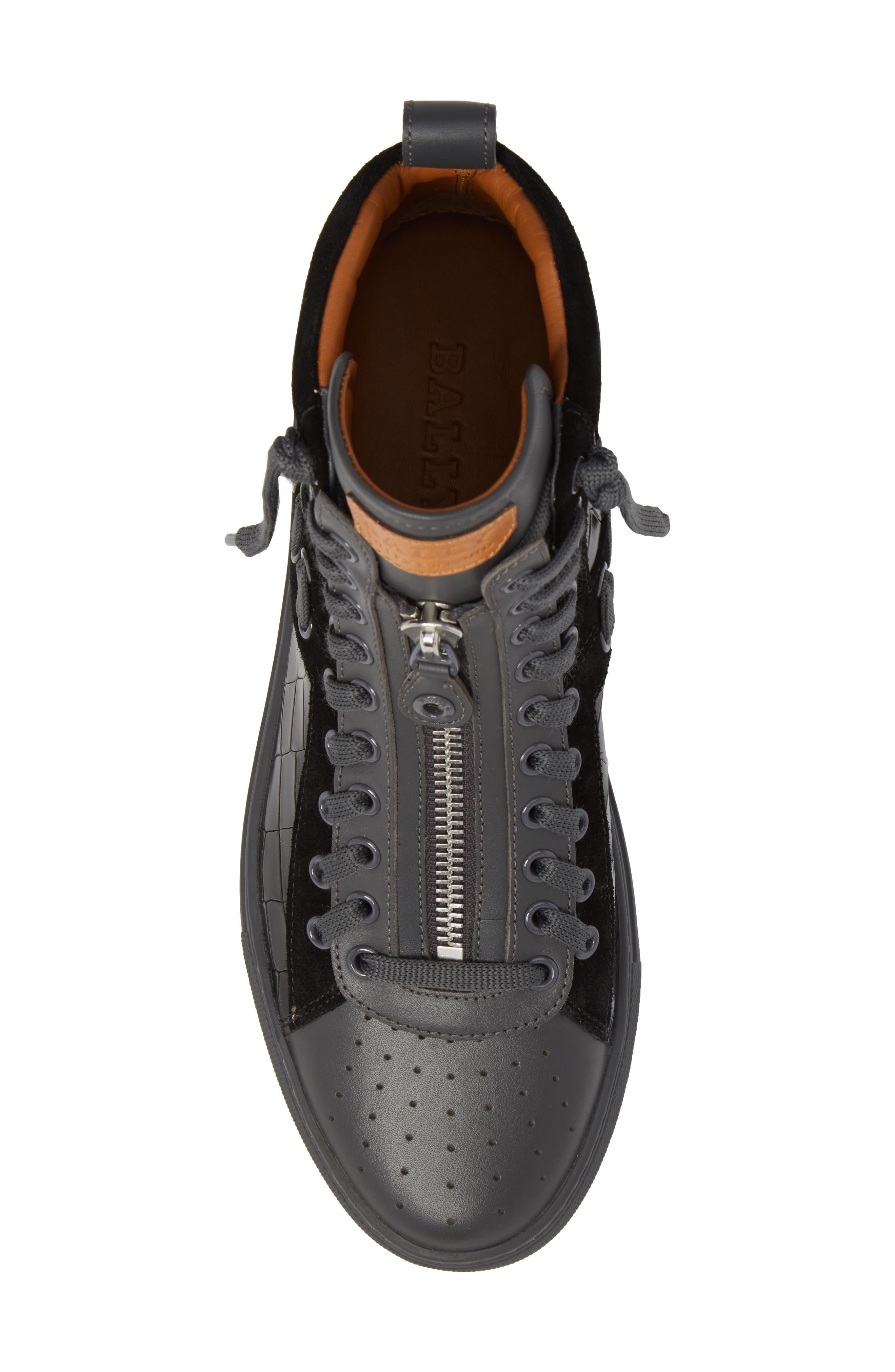 Hekem High-Top Sneaker,                             Alternate thumbnail 4, color,                             Black
