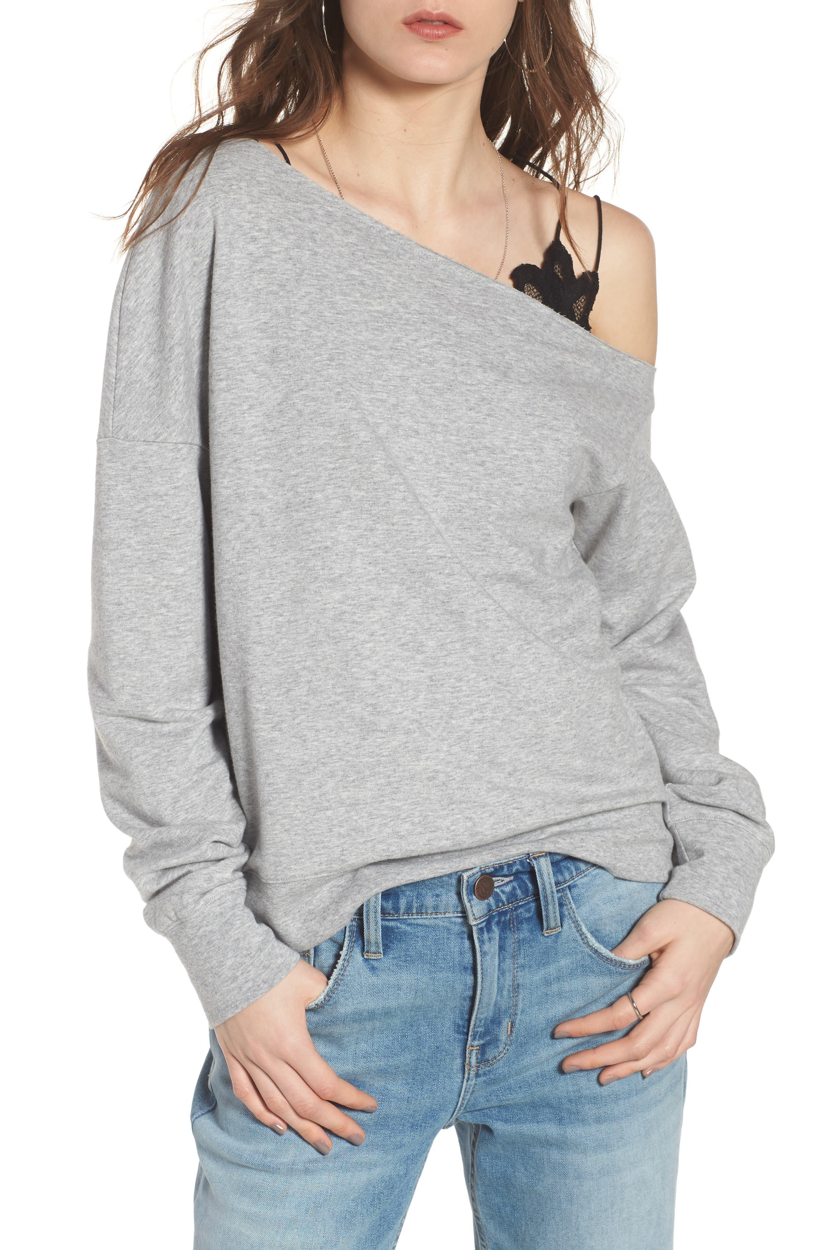 Treasure & Bond Asymmetrical Sweatshirt