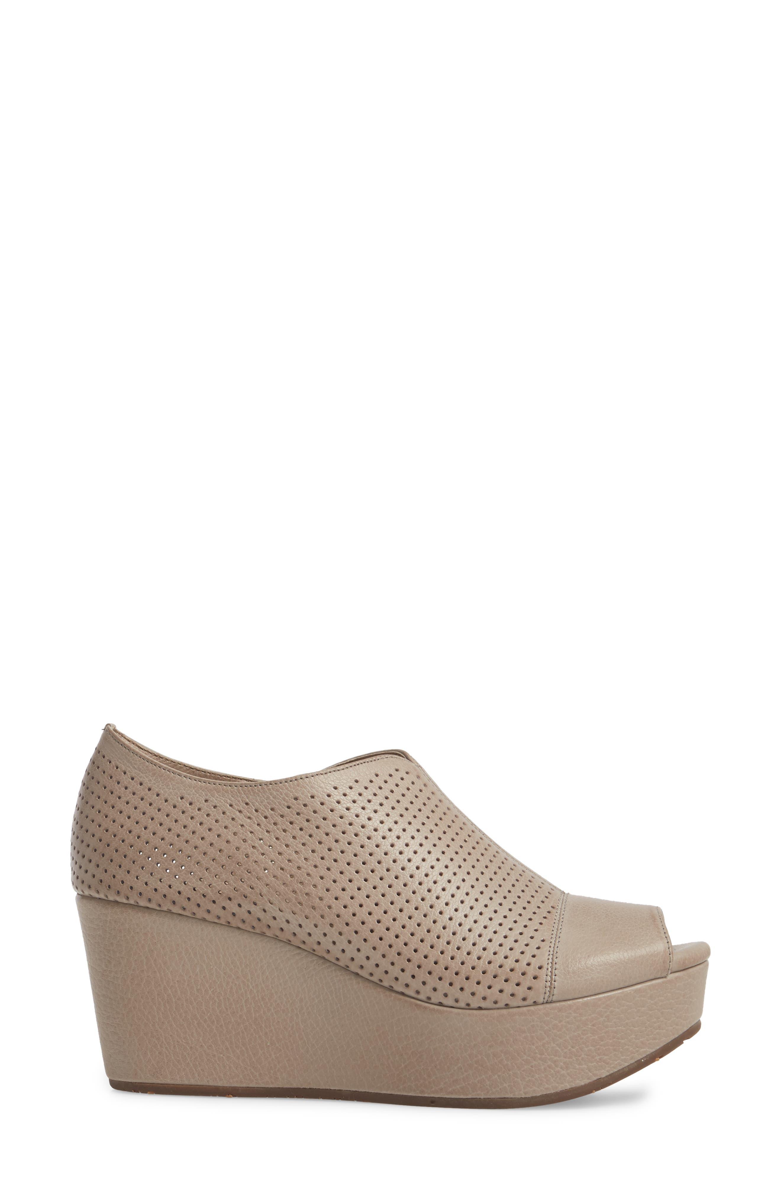 Wheeler Wedge Sandal,                             Alternate thumbnail 3, color,                             Grey Leather