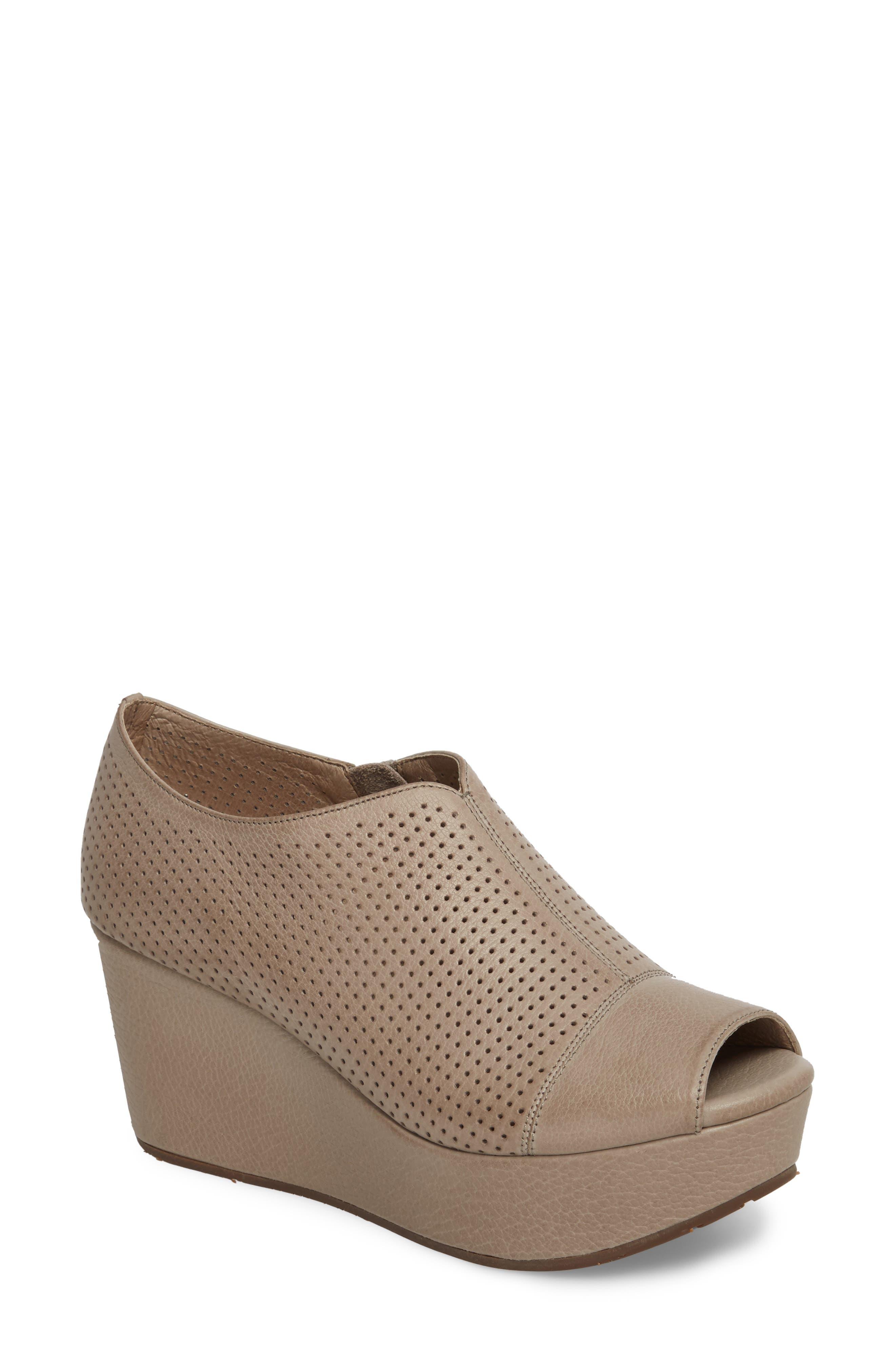 Wheeler Wedge Sandal,                             Main thumbnail 1, color,                             Grey Leather
