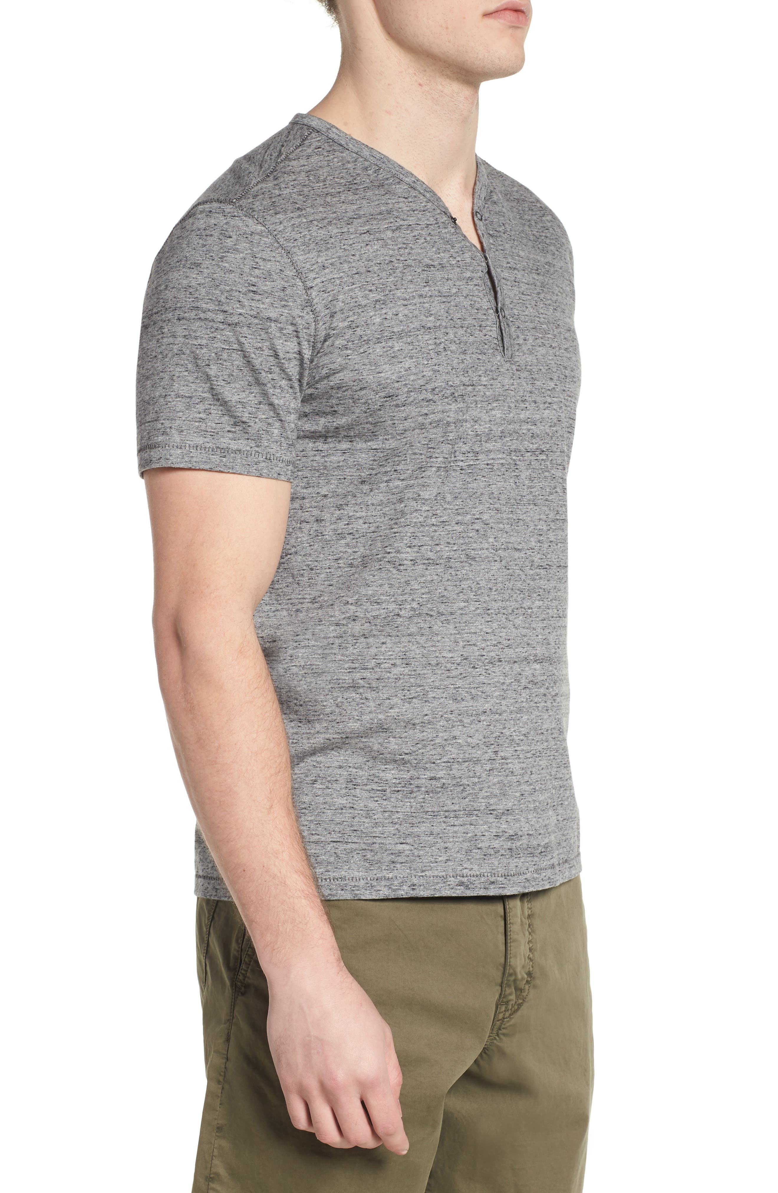 Regular Fit Henley,                             Alternate thumbnail 3, color,                             Mercury Grey