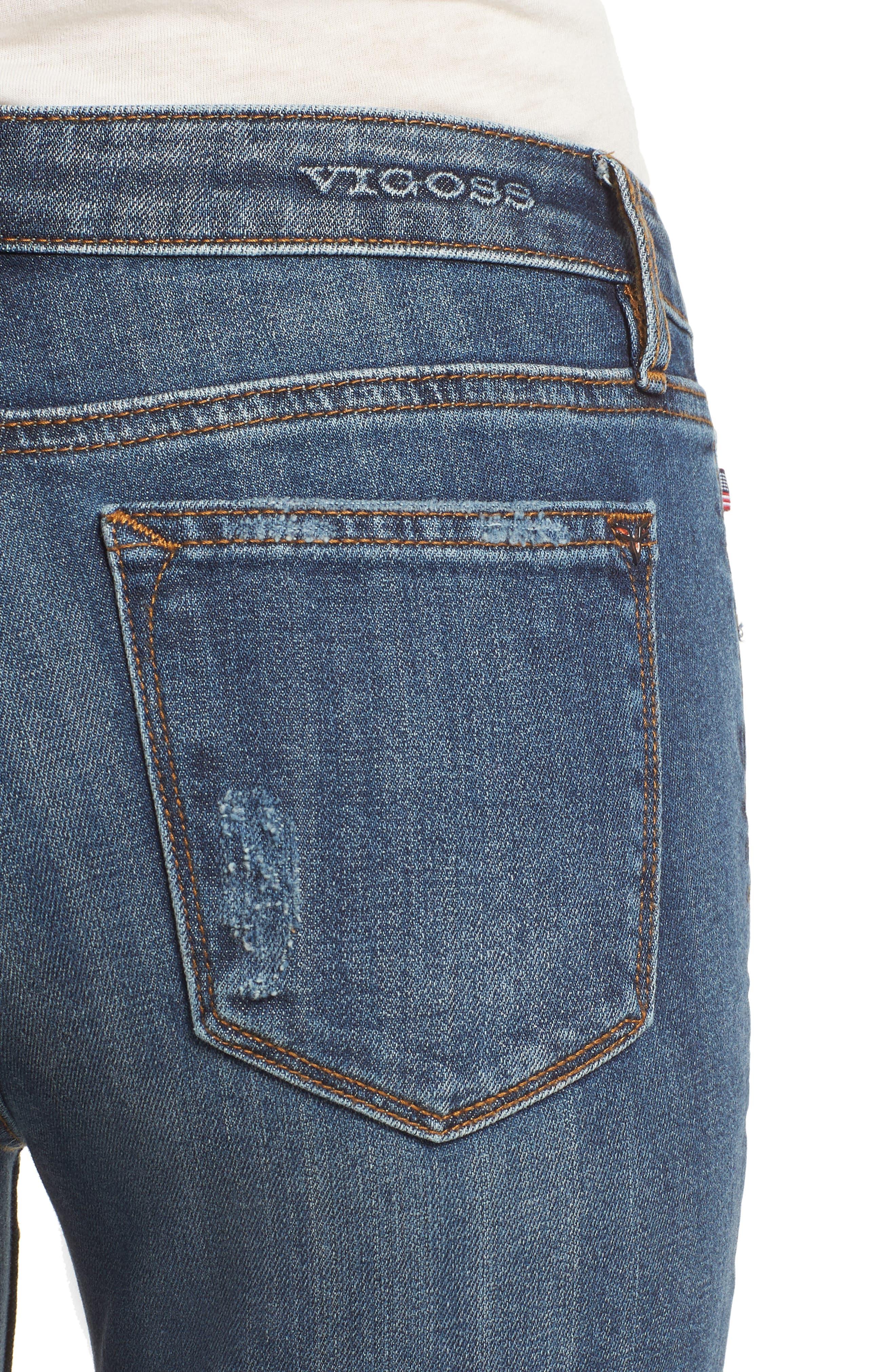 Jagger Skinny Jeans,                             Alternate thumbnail 4, color,                             Medium Wash