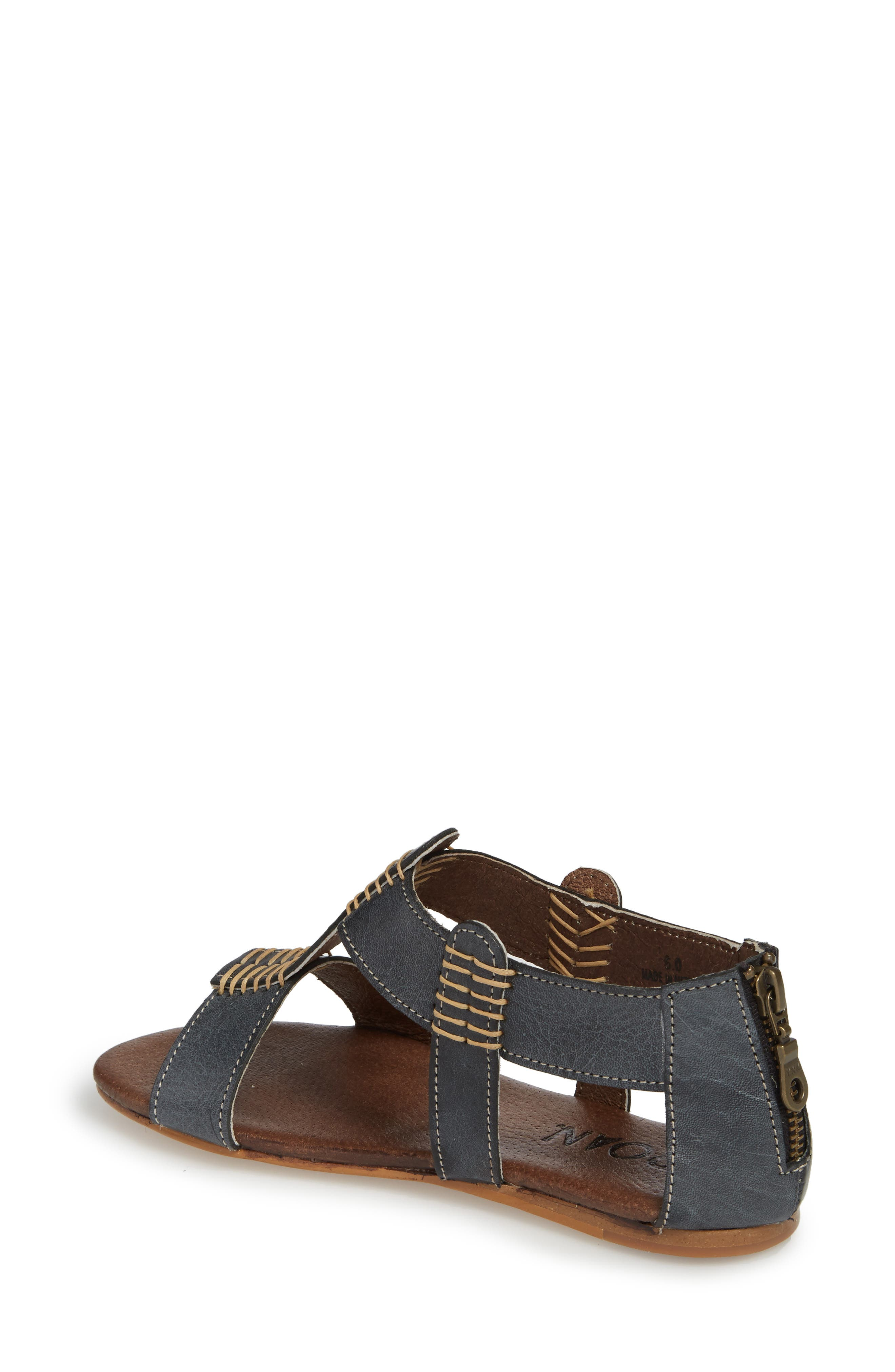 Jocelyn T-Strap Flat Sandal,                             Alternate thumbnail 2, color,                             Sydney Black