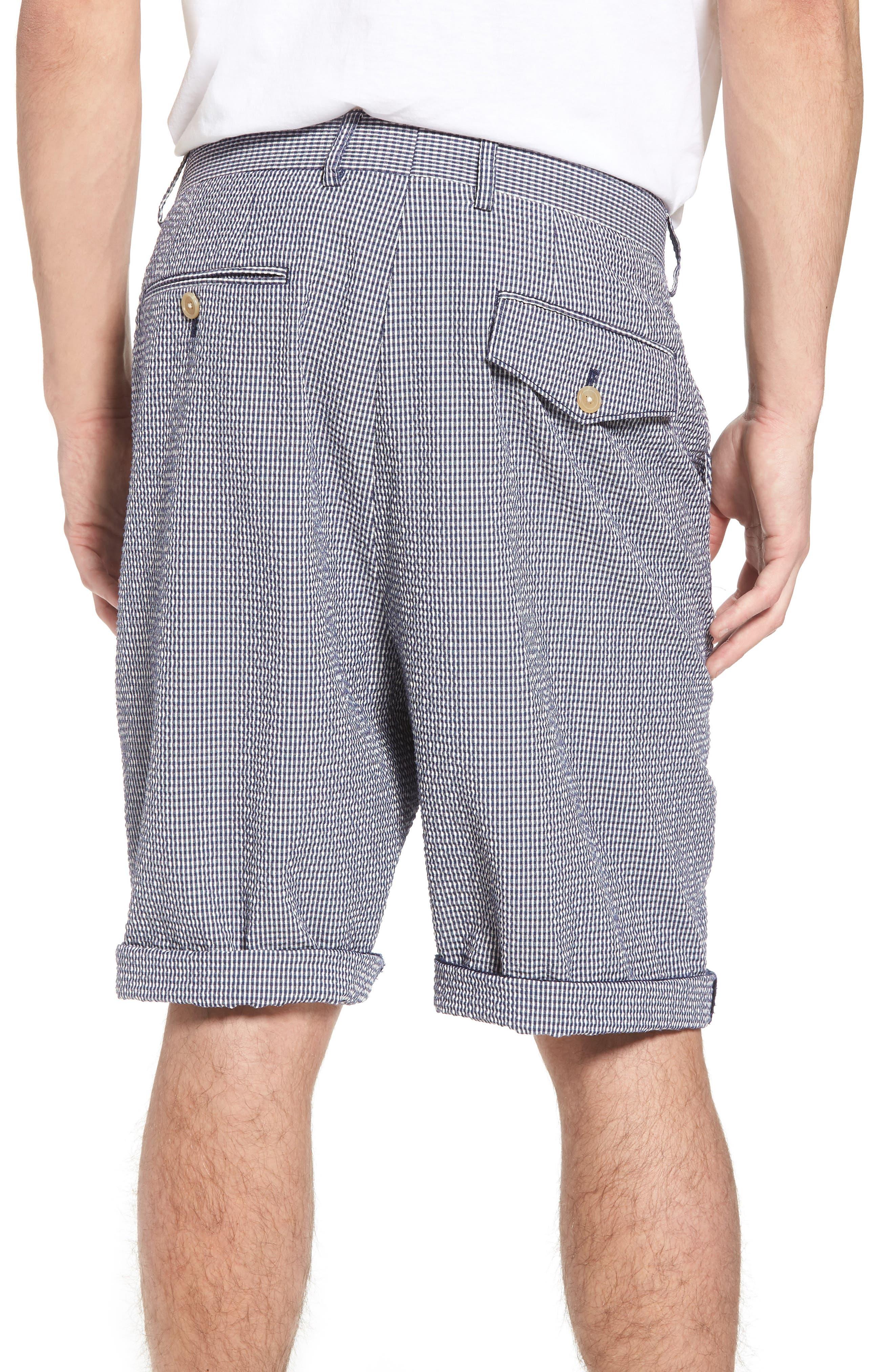 Stretch Seersucker Shorts,                             Alternate thumbnail 2, color,                             Marine Blue