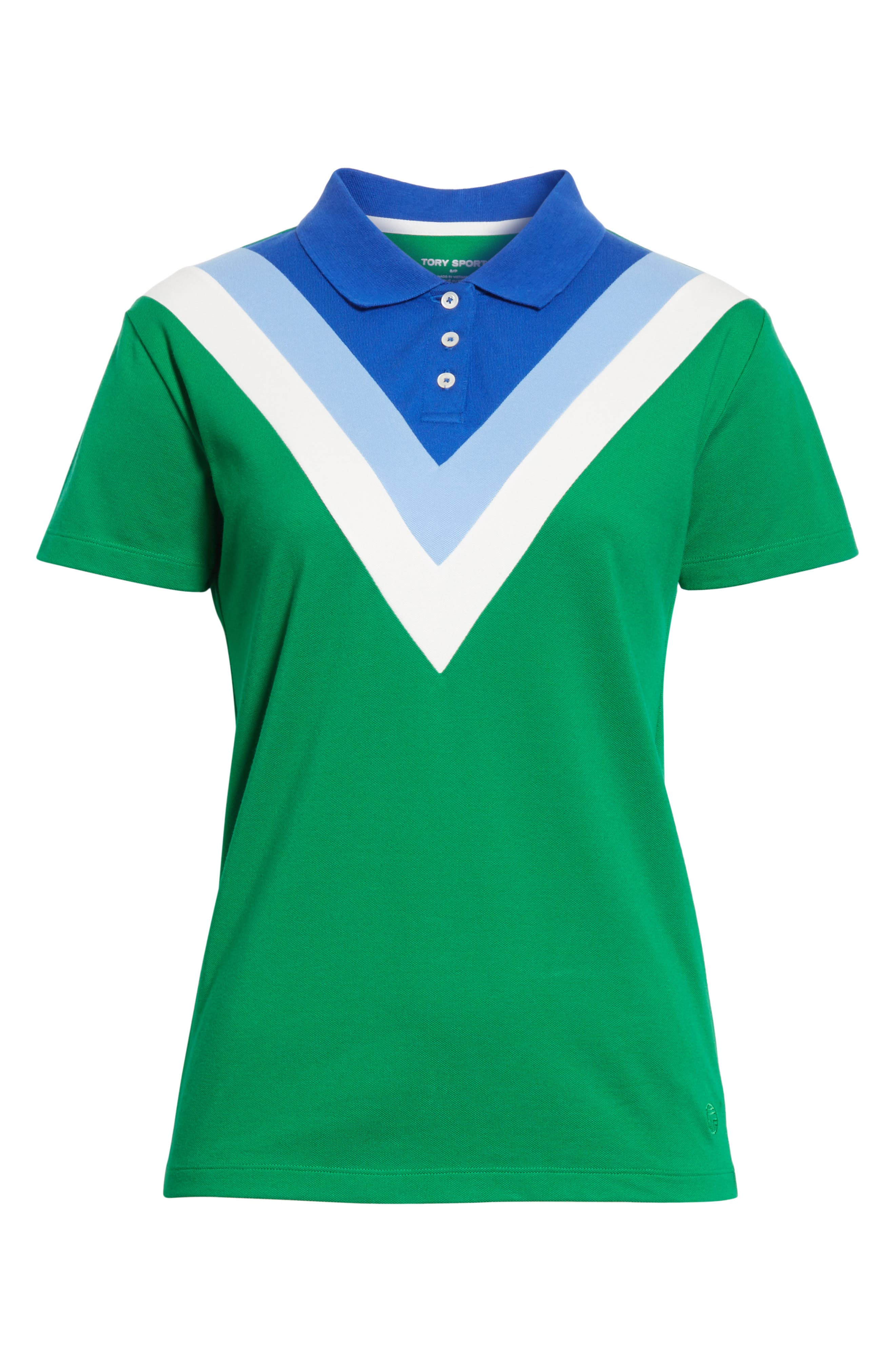 Chevron Polo,                             Alternate thumbnail 6, color,                             Vineyard