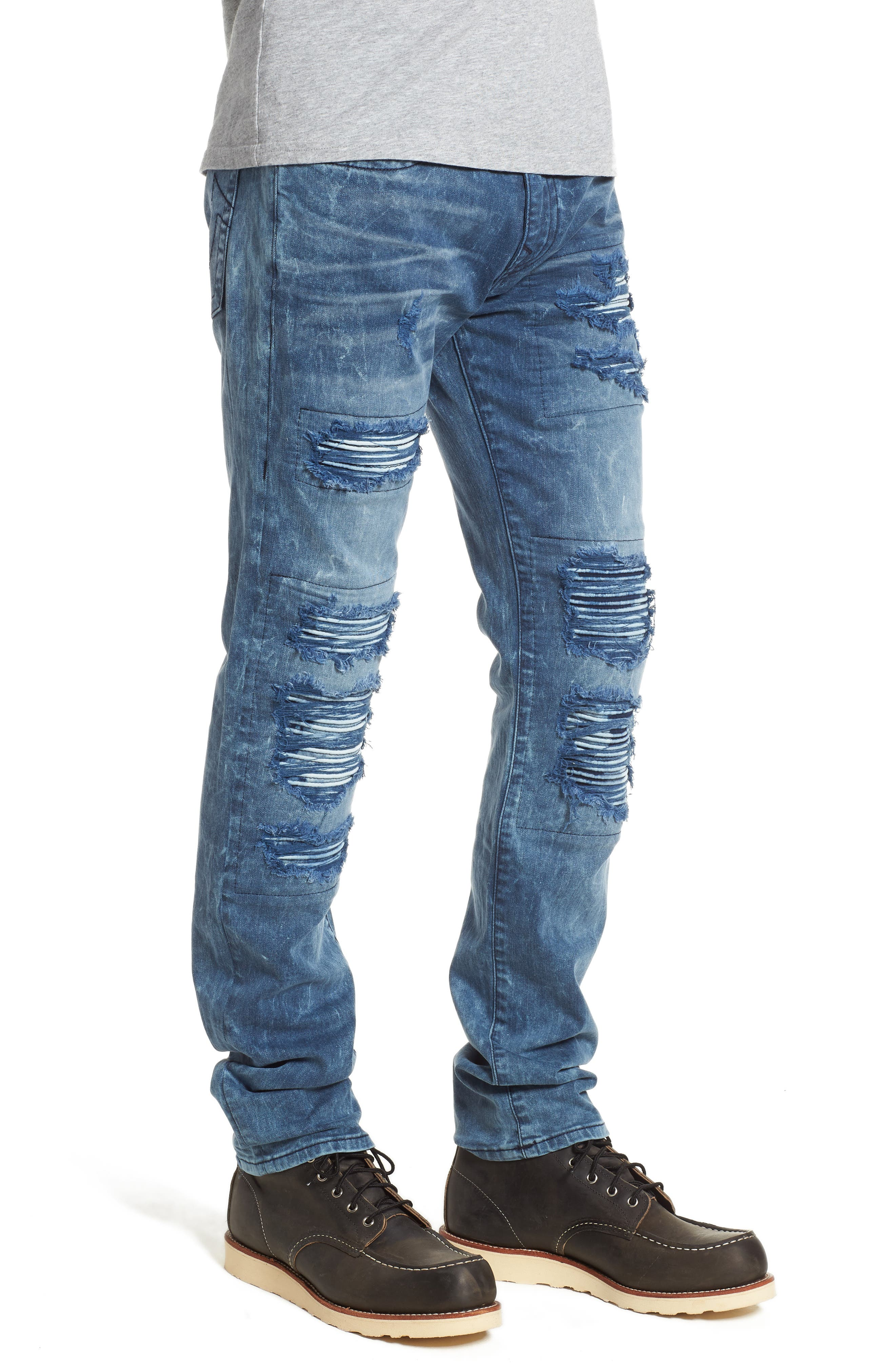 Rocco Skinny Fit Jeans,                             Alternate thumbnail 3, color,                             Blue