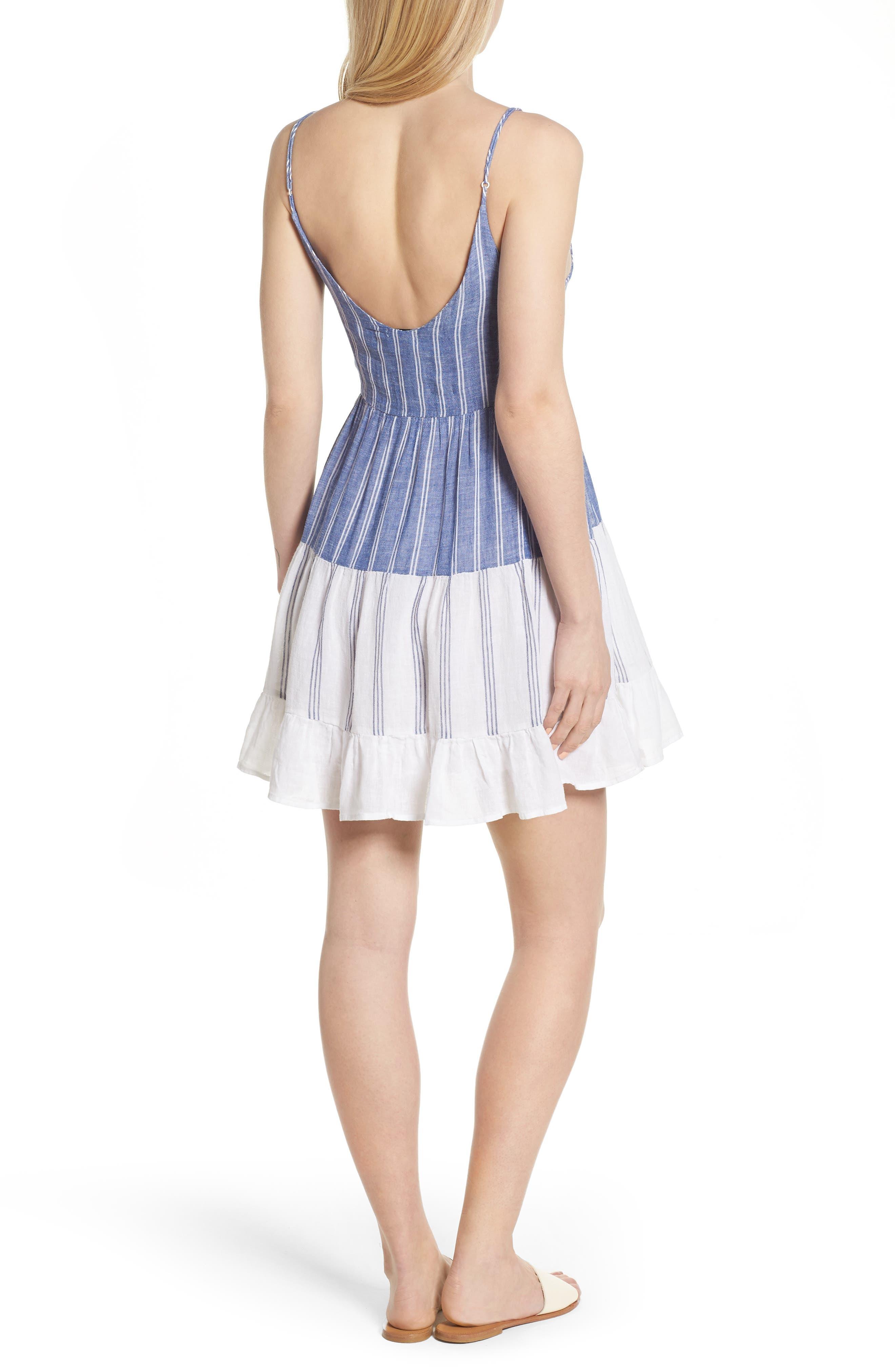 Mattie Dress,                             Alternate thumbnail 2, color,                             Mixed Blues Stripe