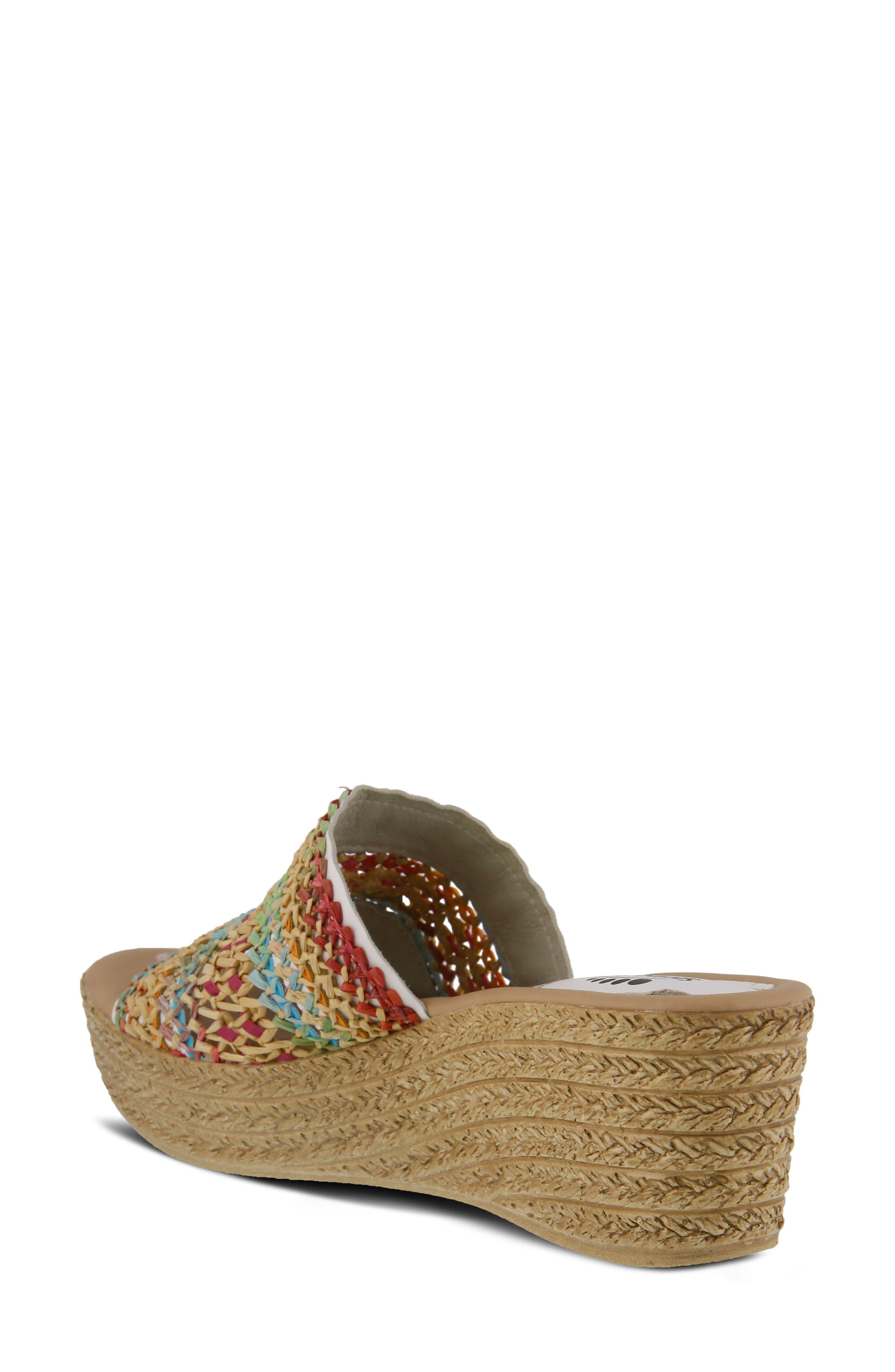 Calci Espadrille Wedge Sandal,                             Alternate thumbnail 2, color,                             White Leather