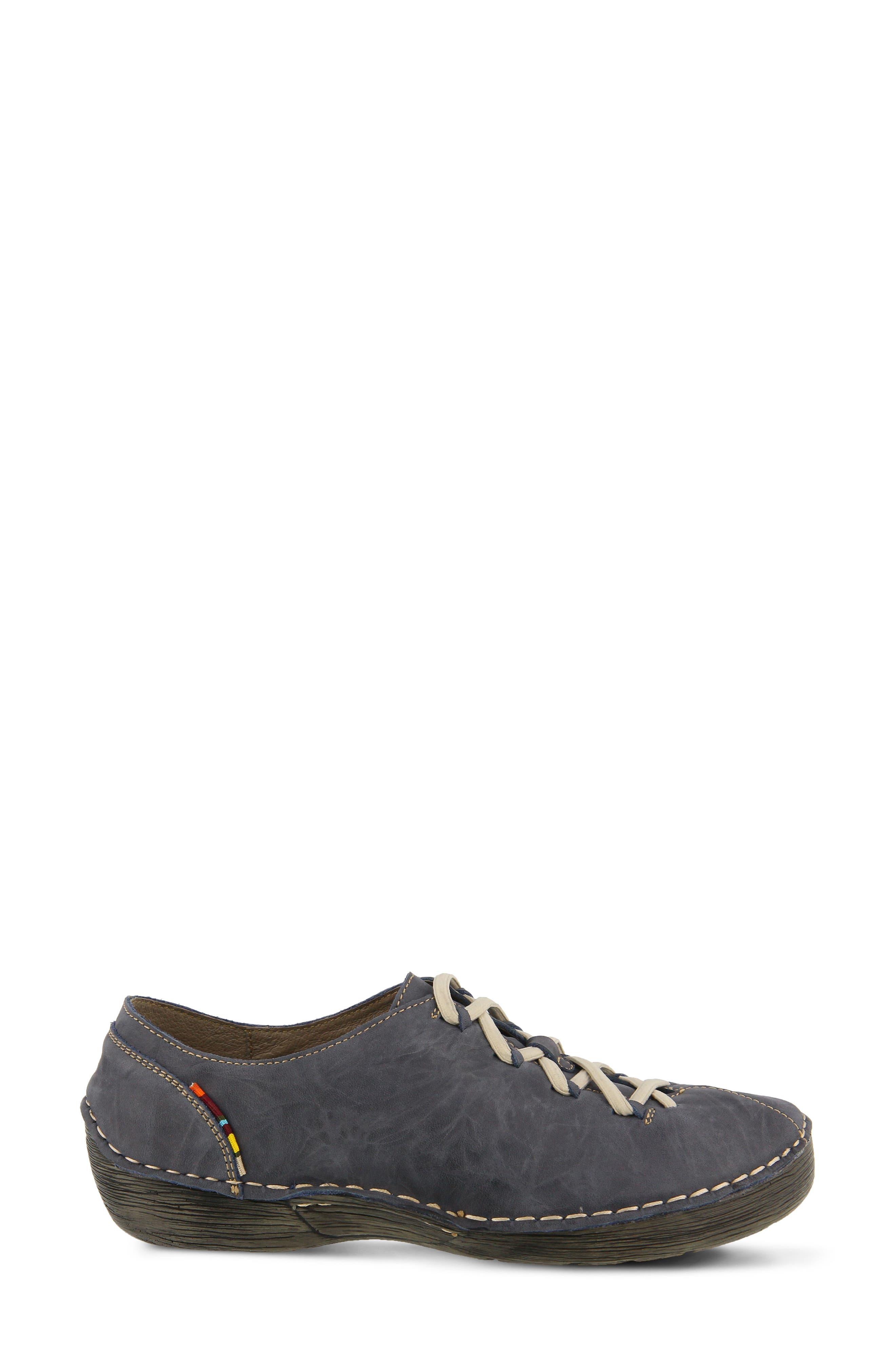 Carhop Sneaker,                             Alternate thumbnail 3, color,                             Blue Leather