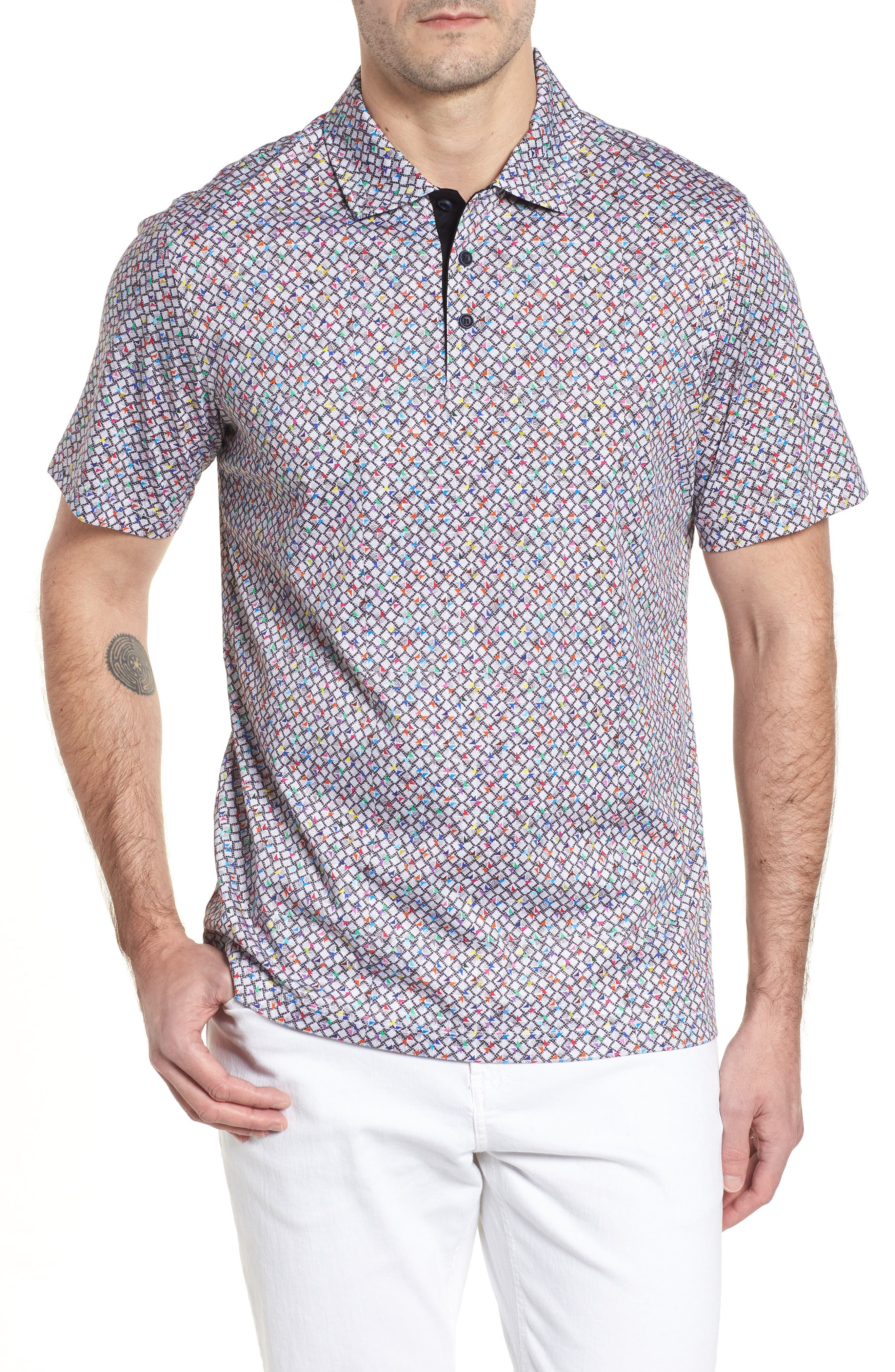 Regular Fit Knit Polo,                         Main,                         color, Graphite