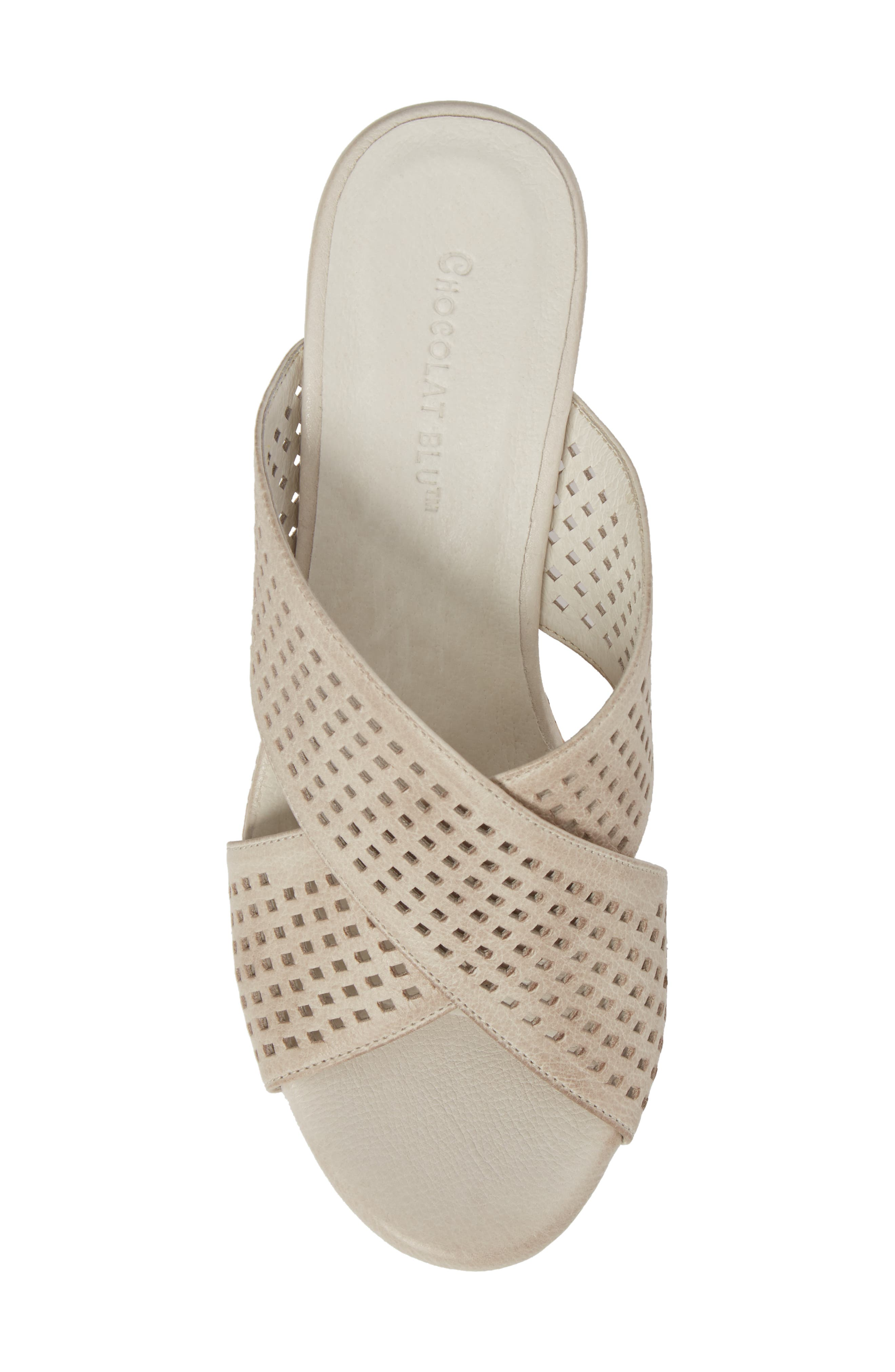 Wamblee Wedge Sandal,                             Alternate thumbnail 5, color,                             Ice Leather