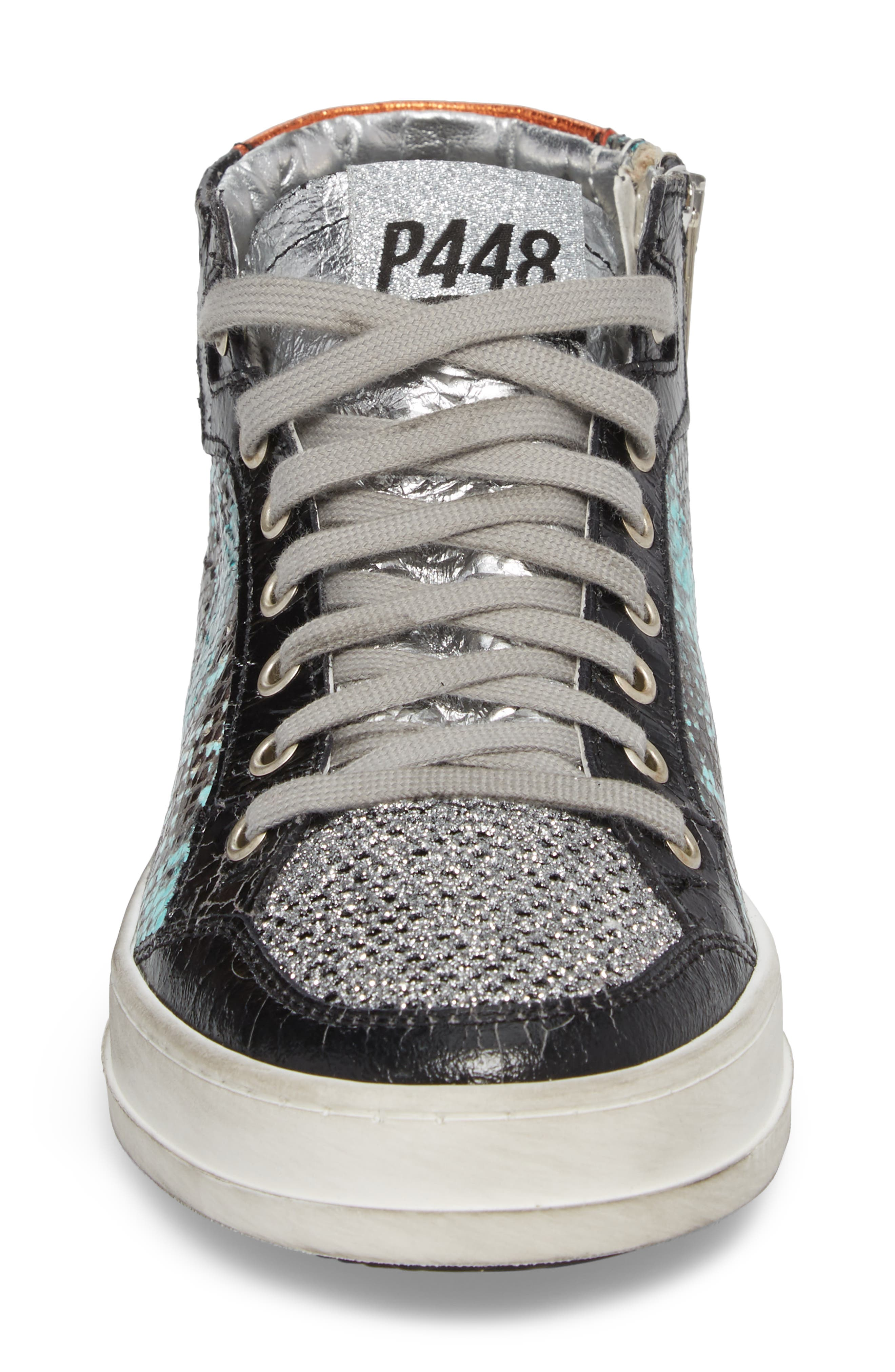 Love High Top Sneaker,                             Alternate thumbnail 4, color,                             Clepton