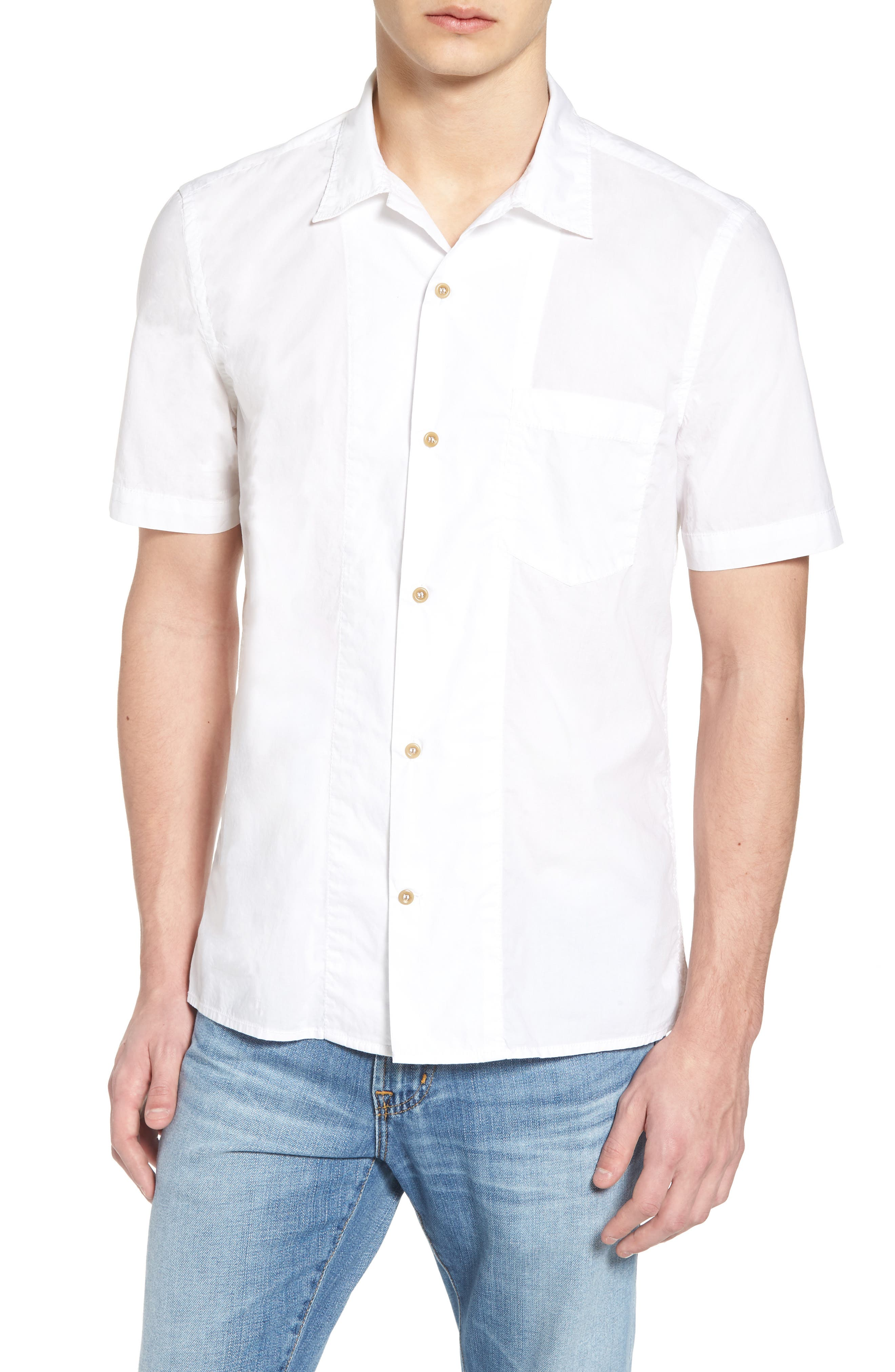 Alternate Image 1 Selected - French Connection Slim Fit Solid Sport Shirt