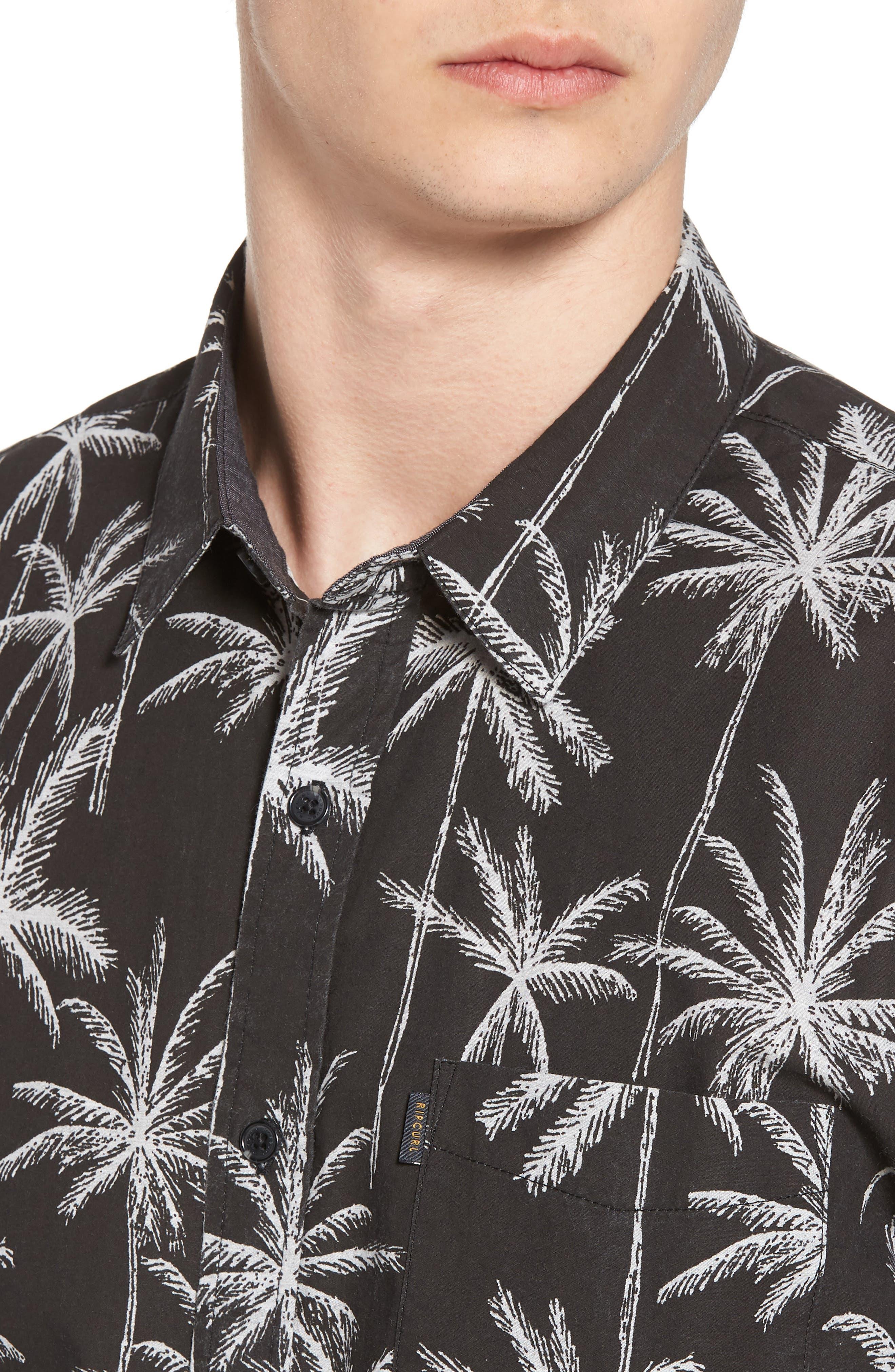 Alternate Image 4  - Rip Curl Palm Trip Short Sleeve Shirt