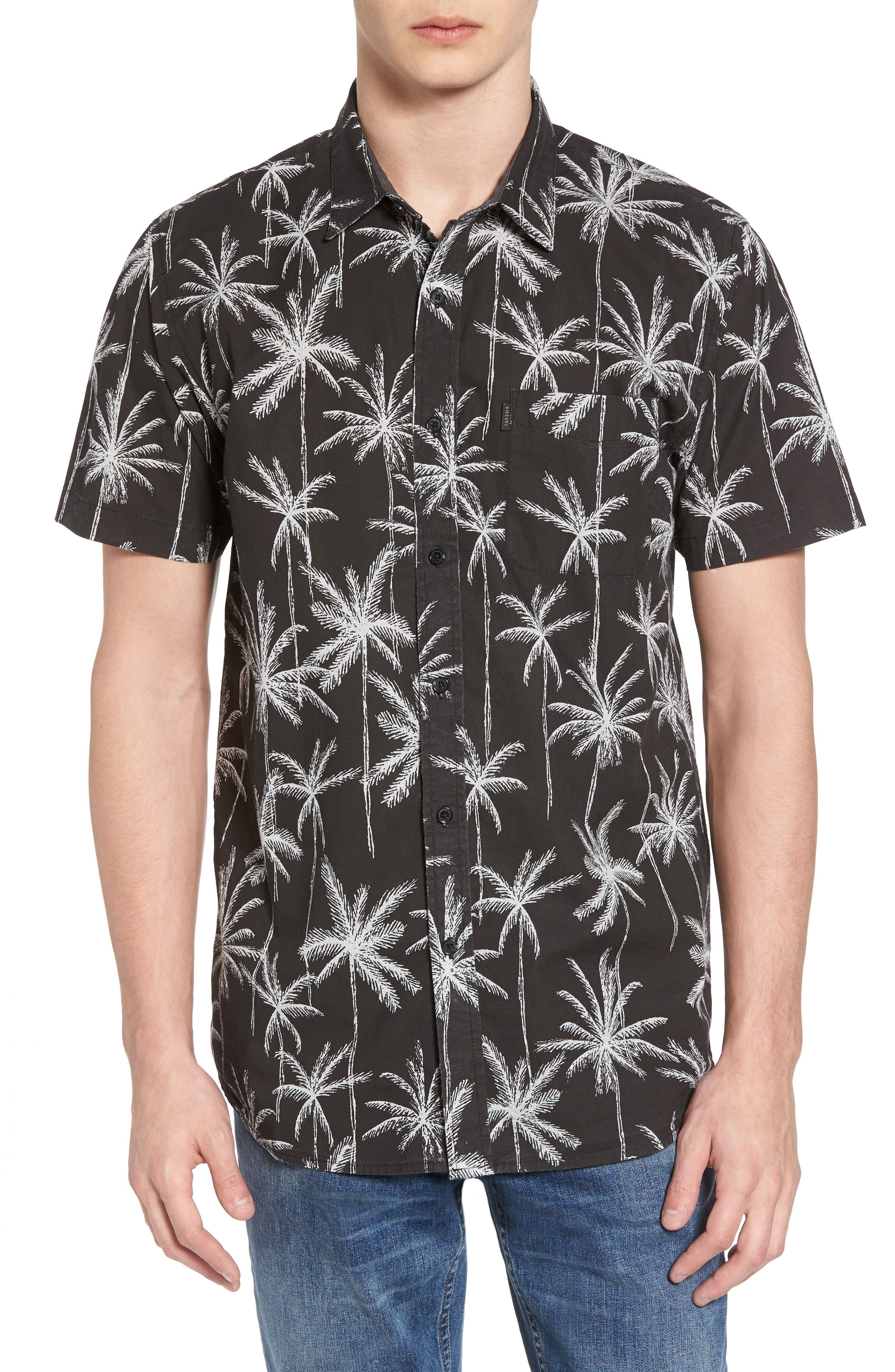 Alternate Image 1 Selected - Rip Curl Palm Trip Short Sleeve Shirt