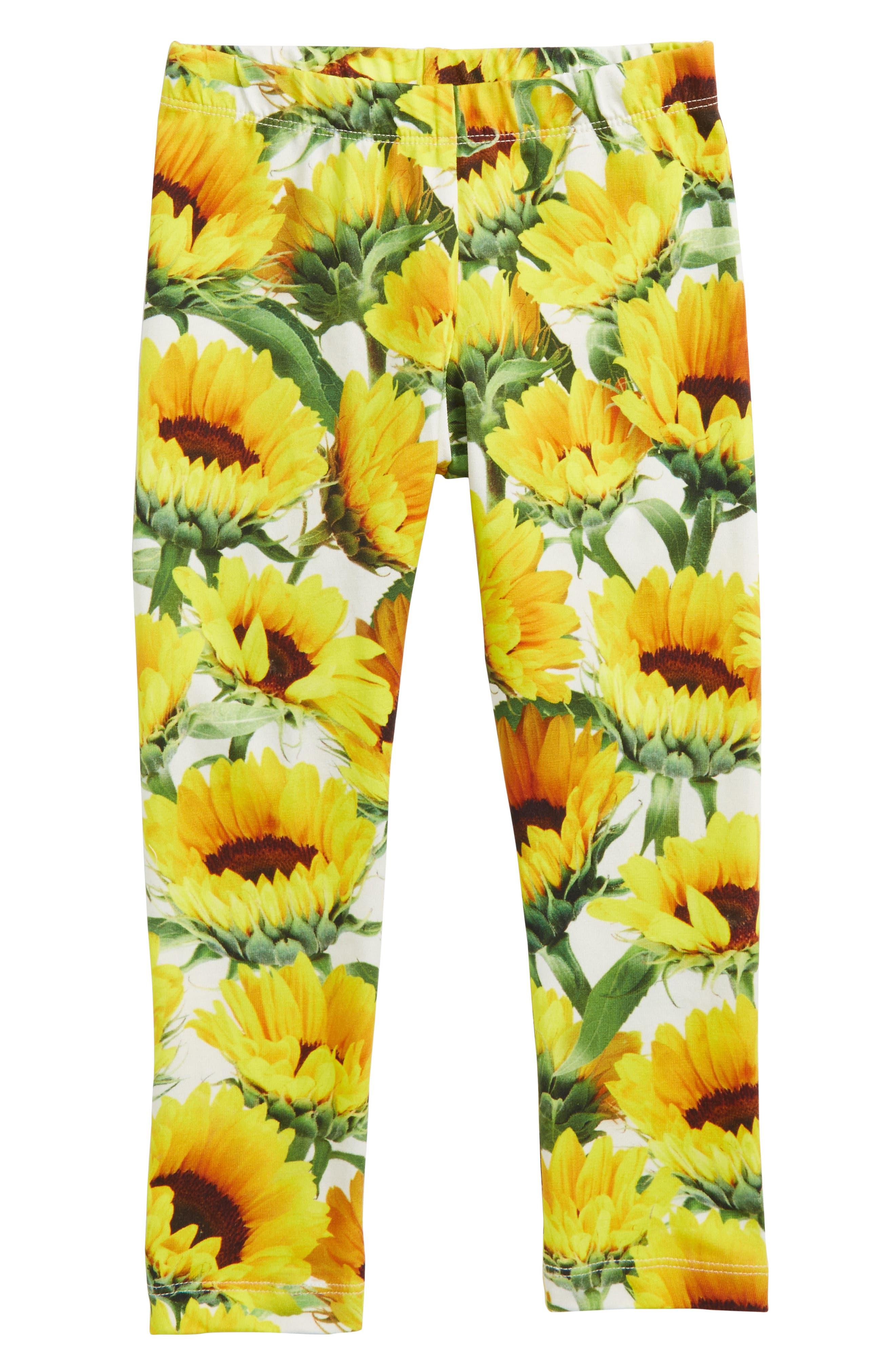 Niki Sunflower Leggings,                         Main,                         color, Sunflower Fields