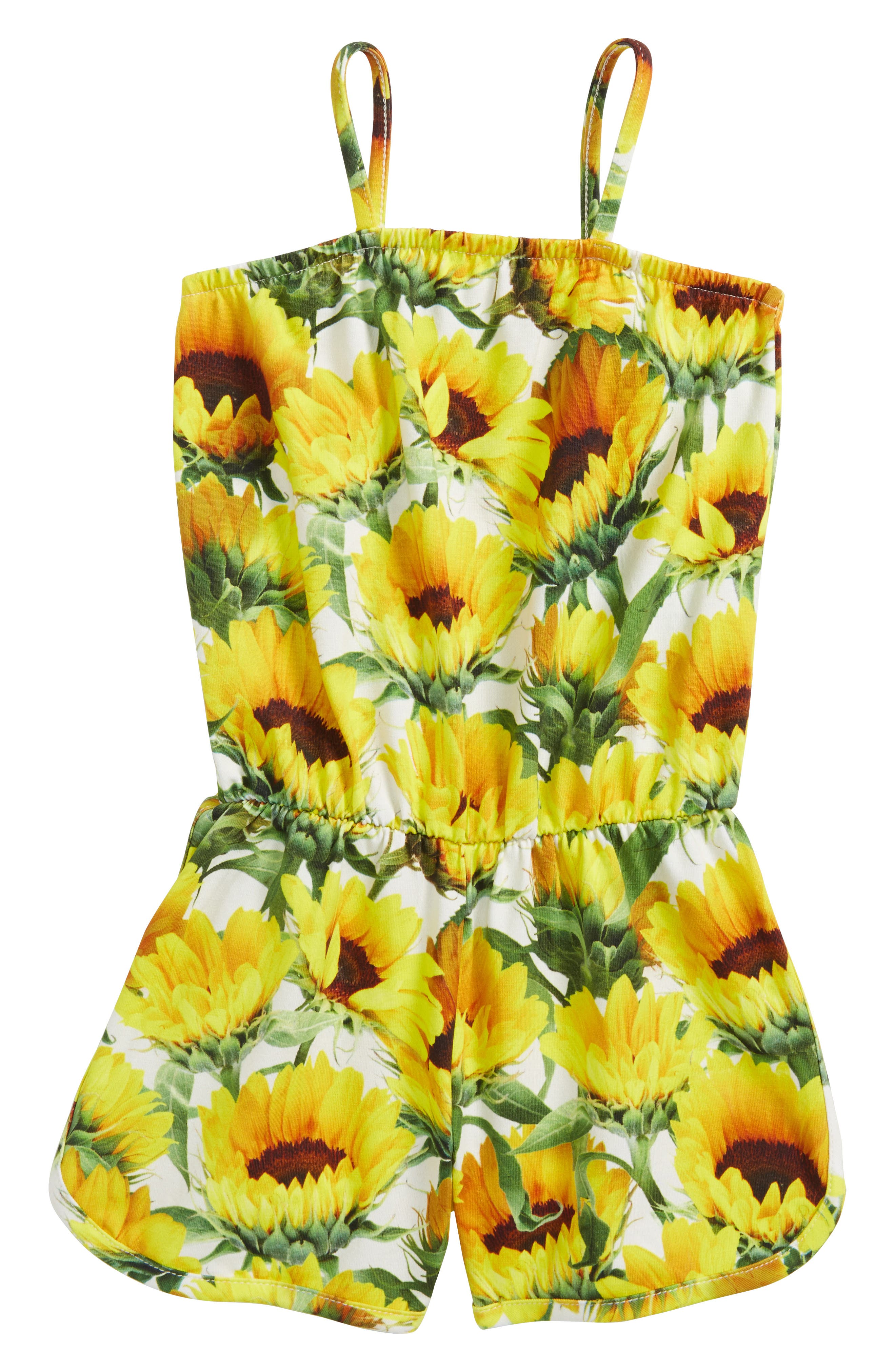 Amberly Sunflower Romper,                             Main thumbnail 1, color,                             Sunflower Fields