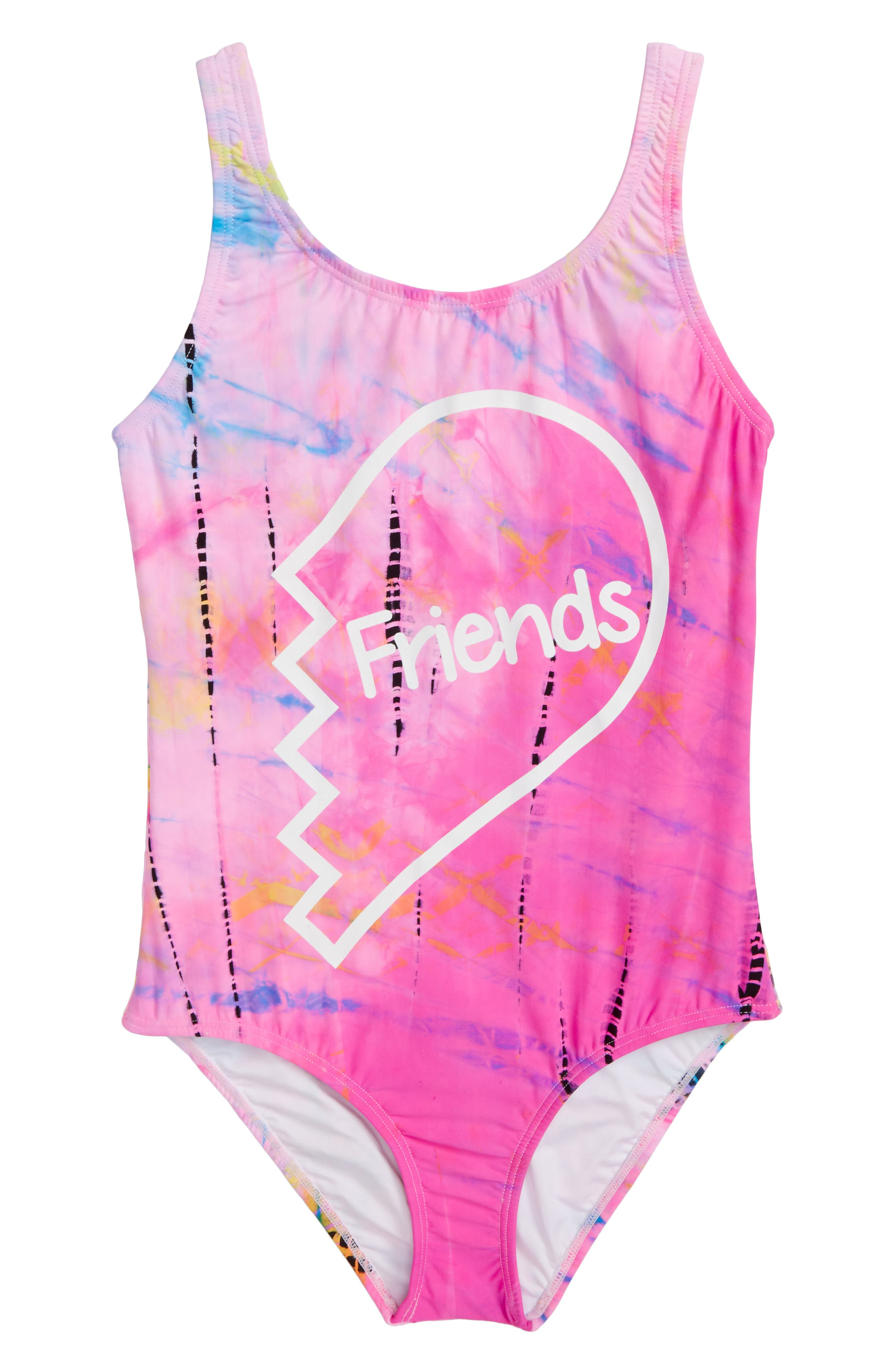Alternate Image 1 Selected - PilyQ Friends One-Piece Swimsuit (Big Girls)