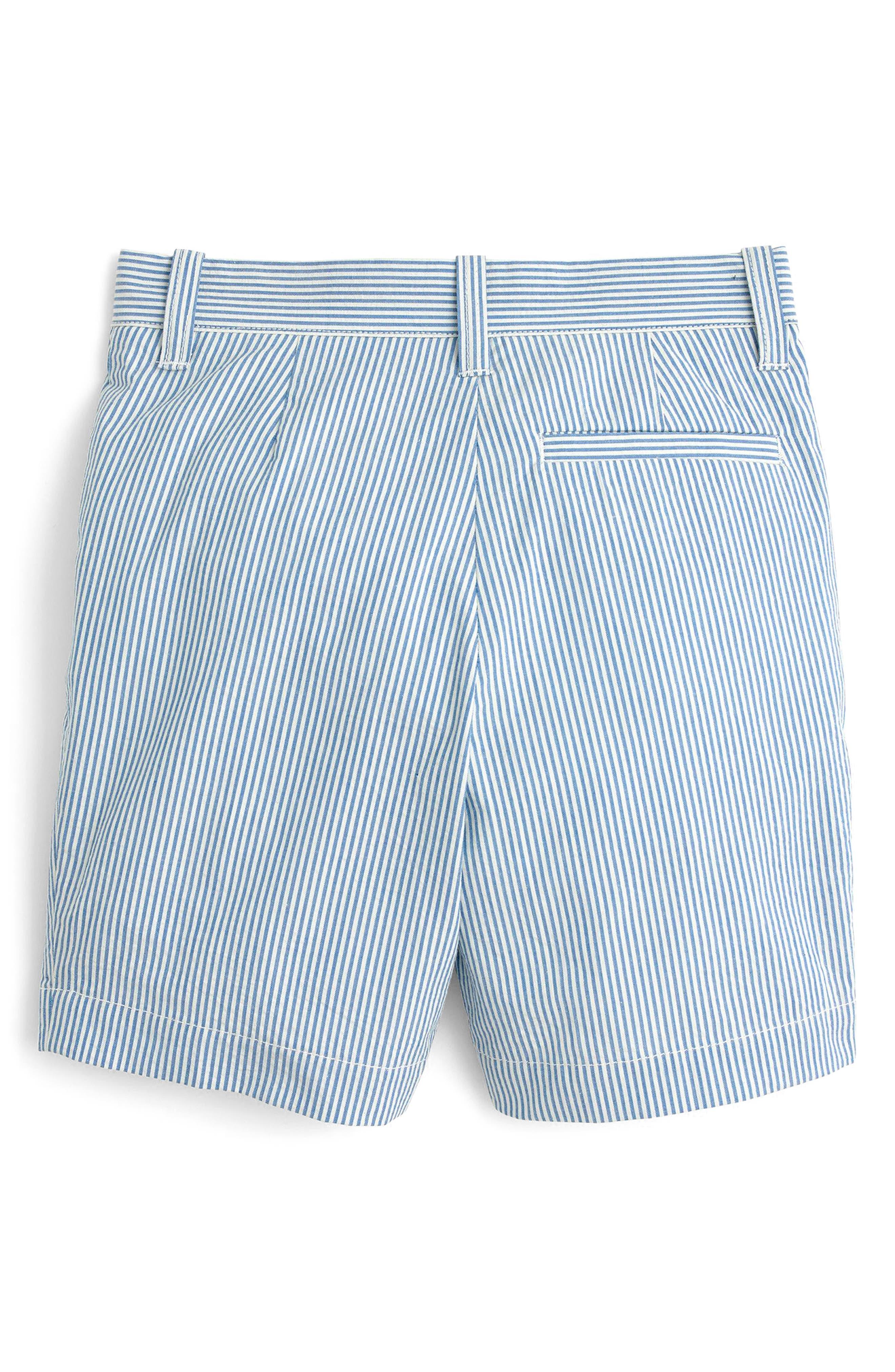 Seersucker Shorts,                             Alternate thumbnail 2, color,                             Crisp Azure White