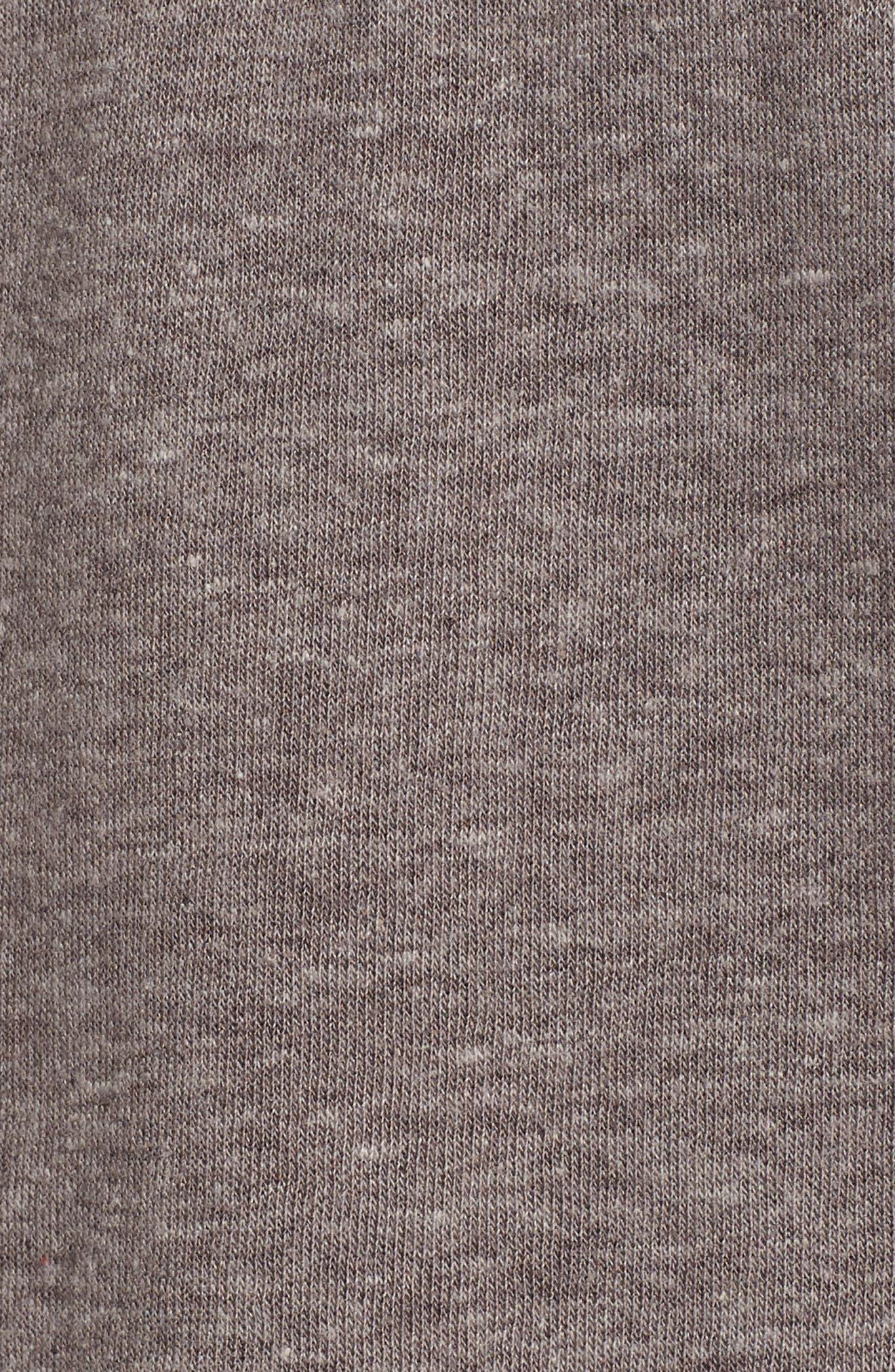 Good Vibes Rainbow Sweatshirt,                             Alternate thumbnail 6, color,                             Heather Grey