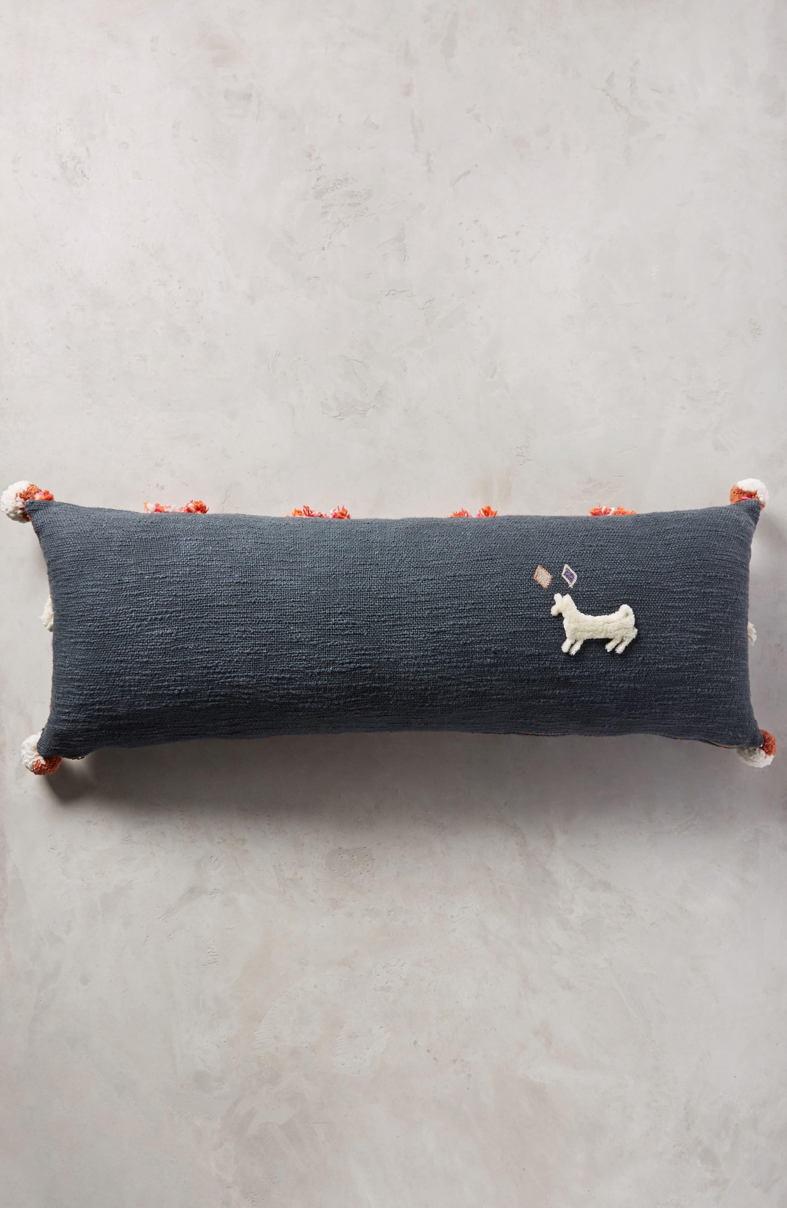 Heradia Accent Pillow,                             Alternate thumbnail 2, color,                             Dark Grey